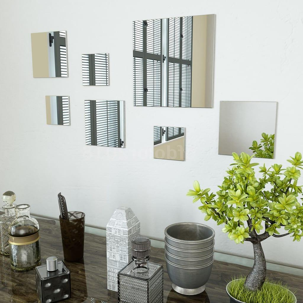 Square Wall Mirror Sets With Favorite Details About 7 Piece Wall Mirror Set Square Glass U0g (View 20 of 20)