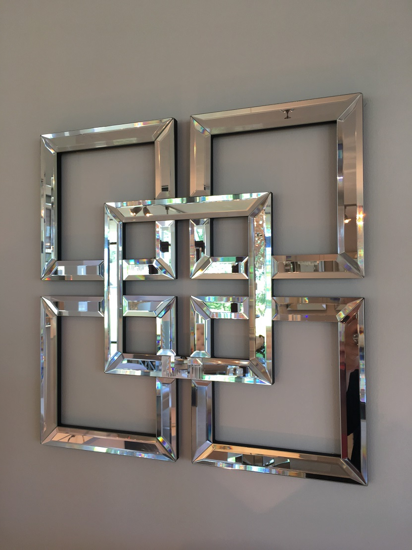 Square Wall Mirrors Inside Newest Small Square Designer Style Mirror (View 13 of 20)