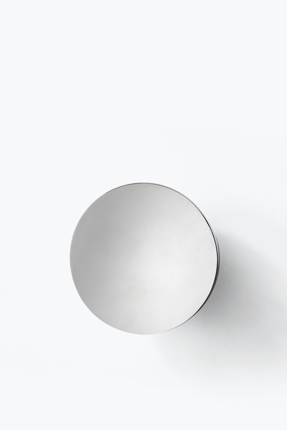 Stainless Steel Wall Mirrors In Fashionable Aura Wall Mirror – Stainless Steel, Large — New Works (View 7 of 20)