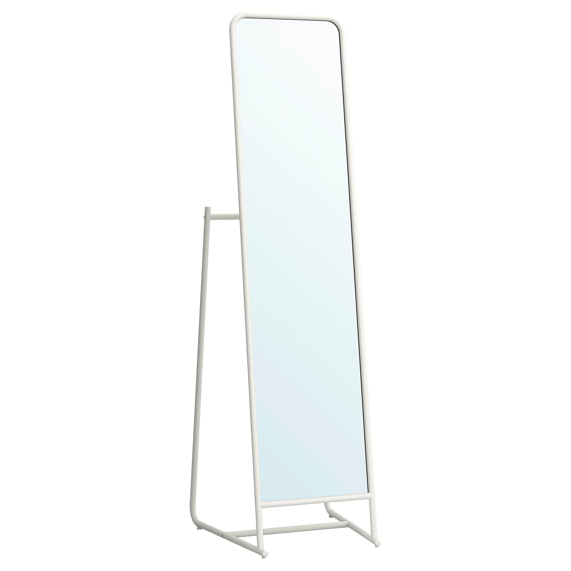Stand Up Wall Mirrors For Most Popular Ikea Knapper White Floor Mirror In 2019 (Gallery 11 of 20)