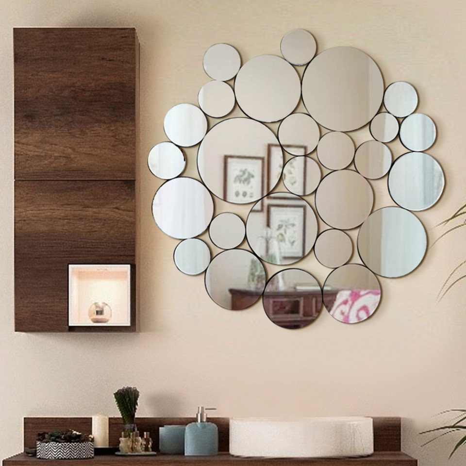 Standard Wall Mirrors Throughout Current Nickles & Dimes – Ornate Round Wall Mirror L 39 X W 40.5 (Gallery 6 of 20)