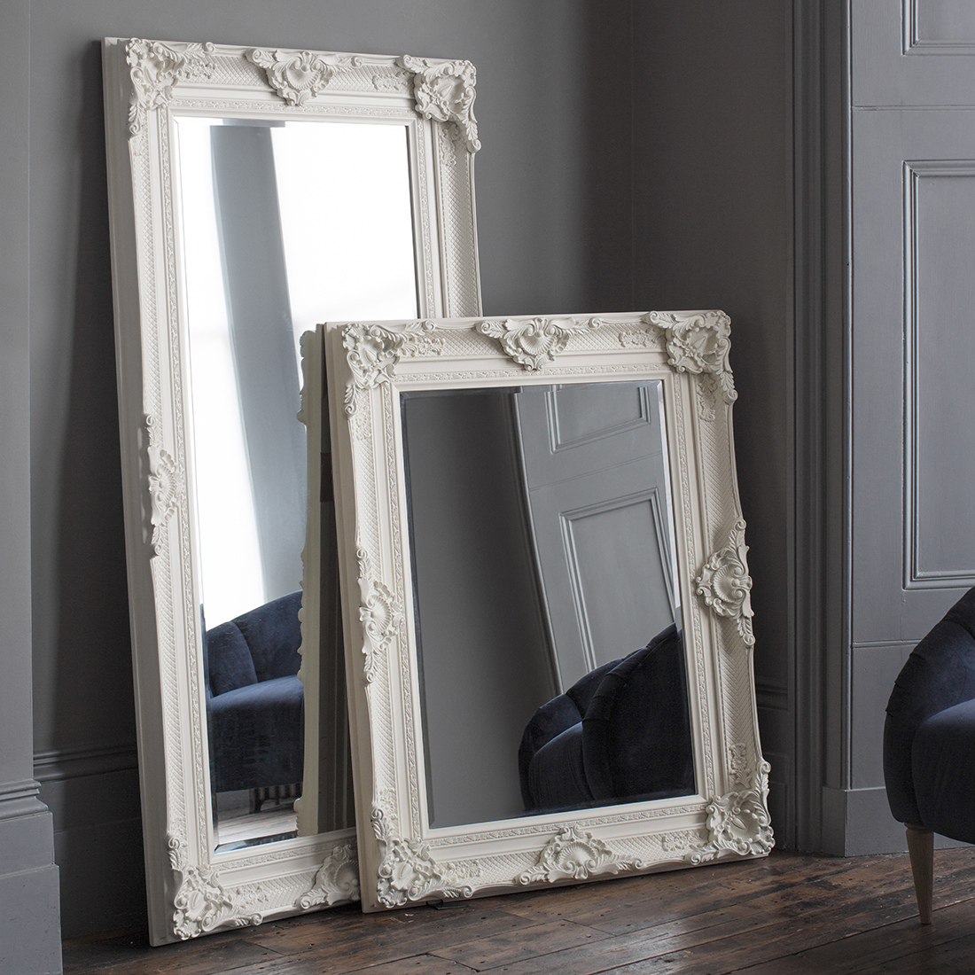 Standing Wall Mirrors For Famous Ivory Ornate Wall & Floor Mirror (View 5 of 20)