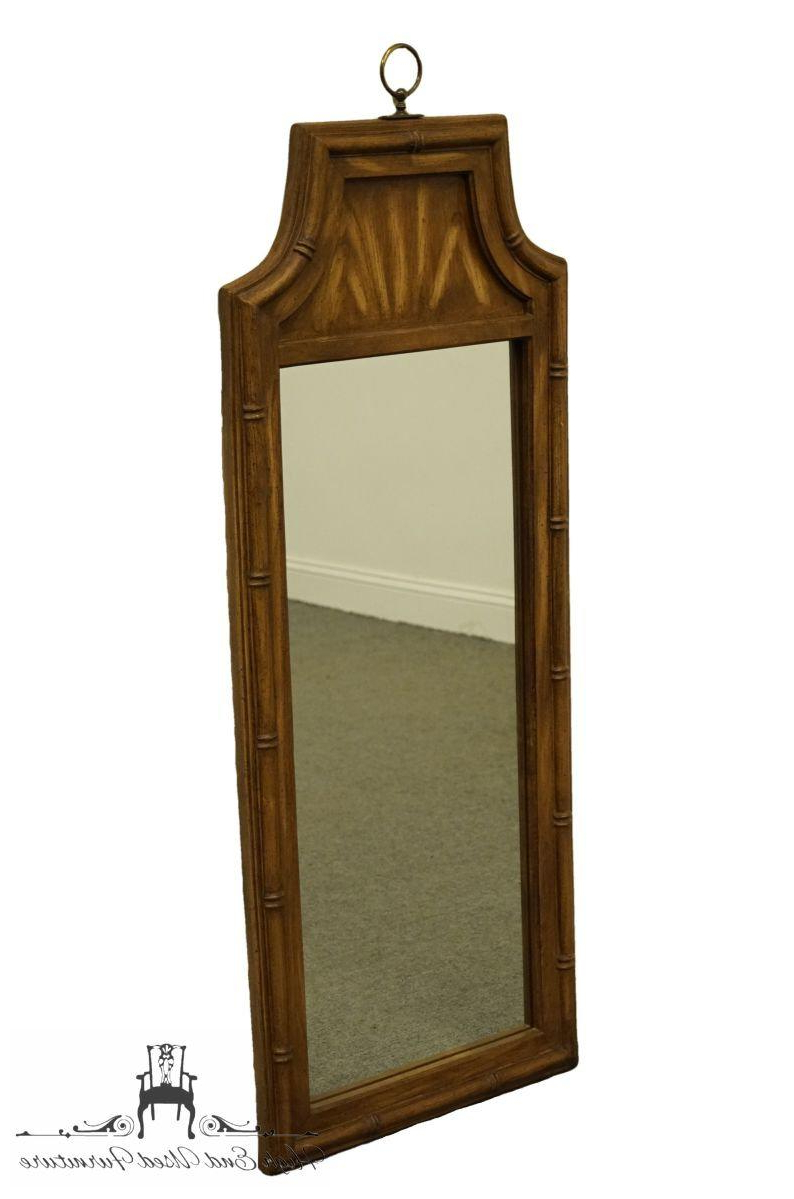 Stanley Furniture Asian Style Faux Bamboo Dresser / Wall Mirror 7260 30 Throughout Most Current Asian Inspired Wall Mirrors (View 18 of 20)