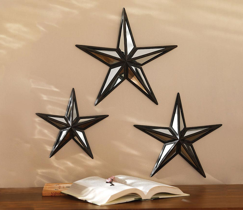 Star Wall Mirrors Regarding Preferred Star Mirror Wall Decor Best : Ornament Star Mirror Wall (View 5 of 20)