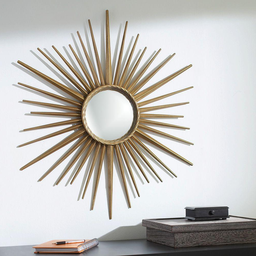 Starburst Wall Mirrors Intended For Trendy Wales 30 In. X 30 In (View 16 of 20)