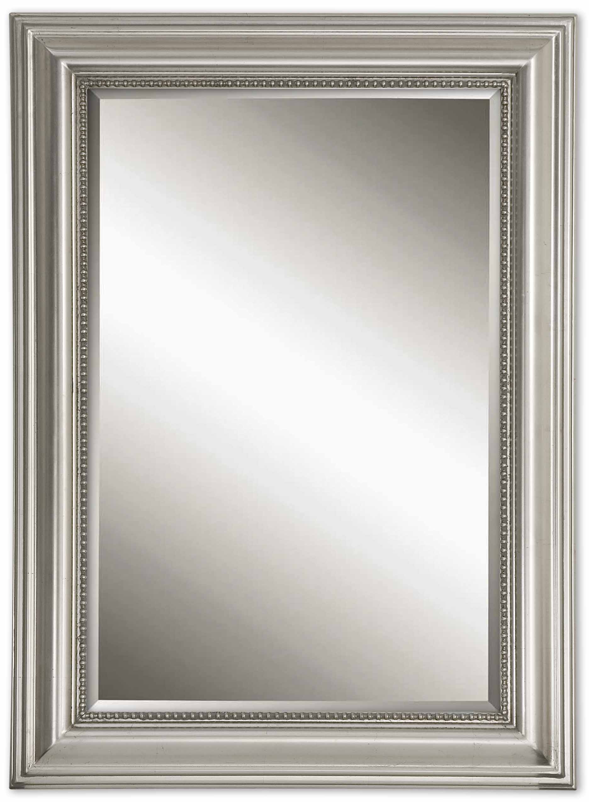 Stuart Silver Beaded Wall Mirroruttermost – 27″ X 37″ Pertaining To Best And Newest Silver Beaded Wall Mirrors (Gallery 4 of 20)