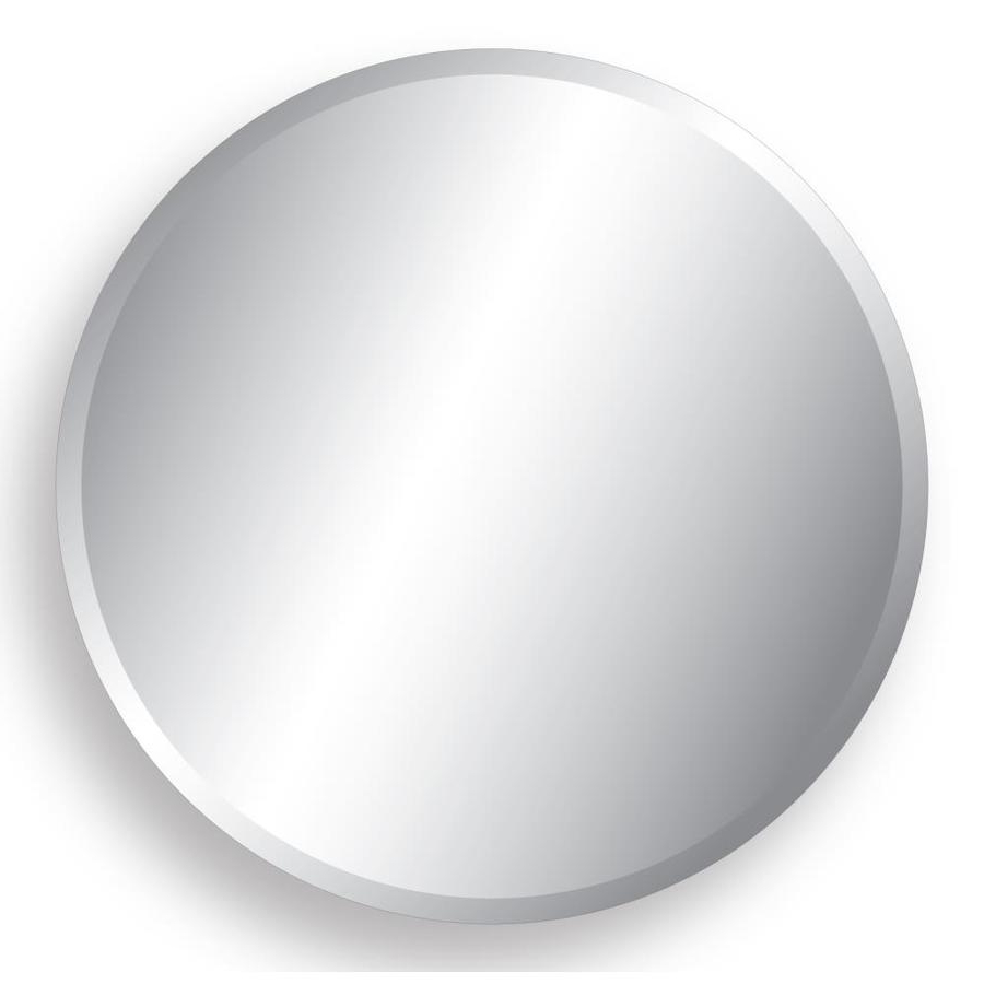 Style Selections 28 In L X 28 In W Round Beveled Wall Mirror At Inside Most Recent Round Beveled Wall Mirrors (View 14 of 20)