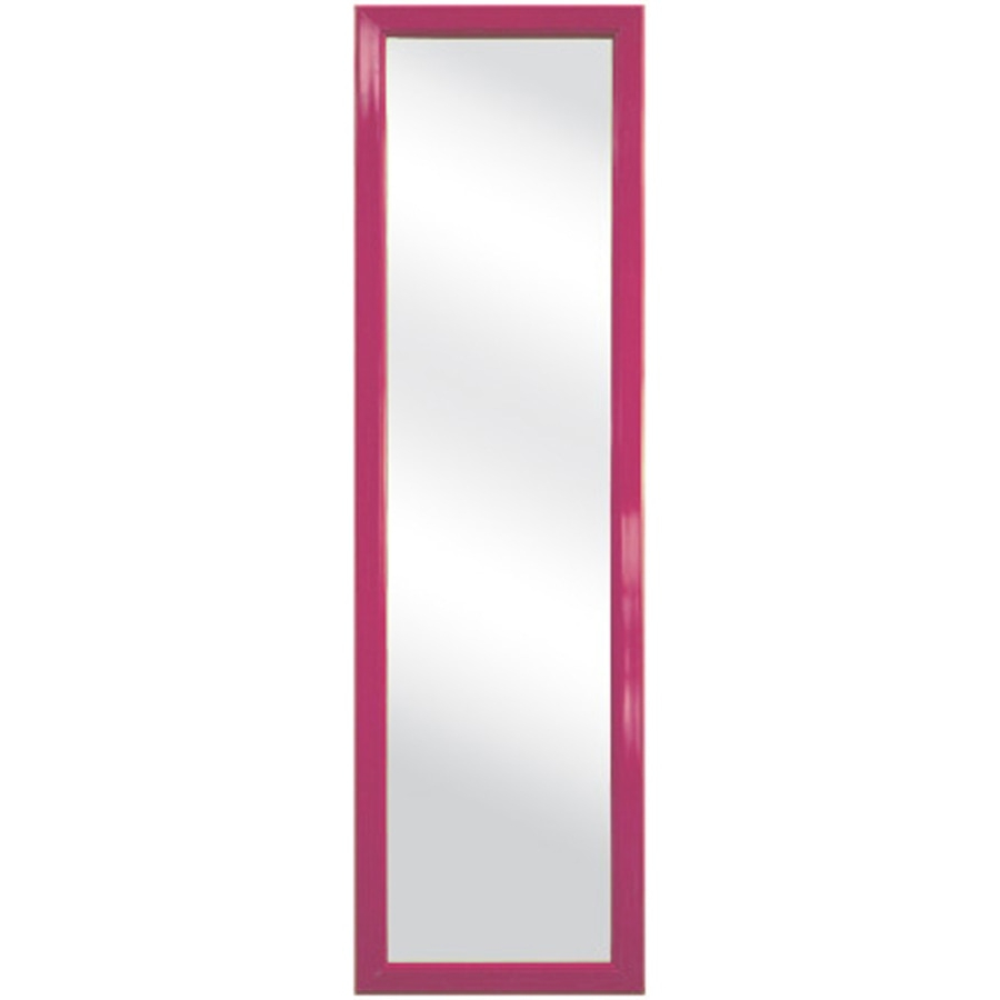 Style Selections Pink Rectangle Framed Wall Mirror At Lowes For Latest Pink Wall Mirrors (View 6 of 20)