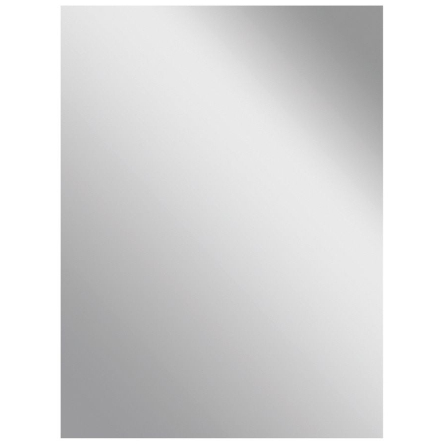 Style Selections Silver Polished Frameless Wall Mirror 42306 Within 2020 Frameless Wall Mirrors (View 13 of 20)