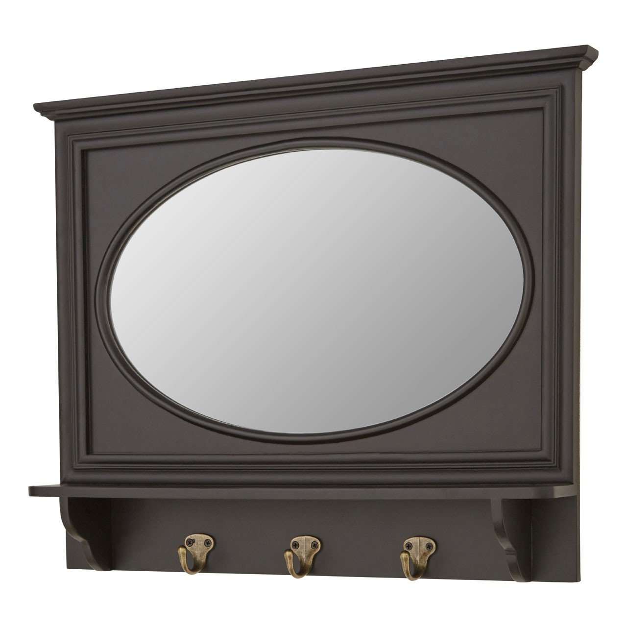 Stylish And Functional Whitley Wall Mirror Three Hooks For Hanging Within 2019 Wall Mirror With Coat Hooks (View 10 of 20)