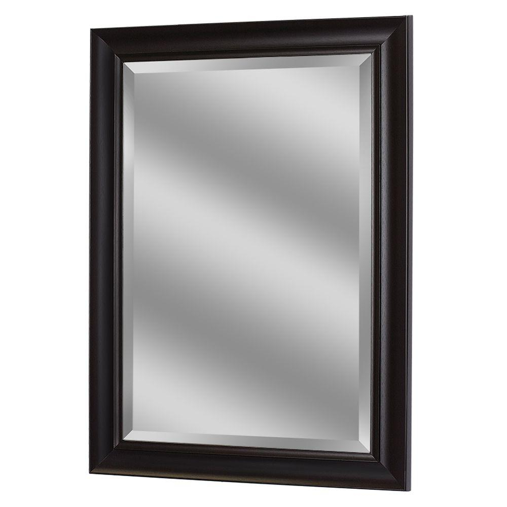 Stylish Wall Mirrors With 2020 Deco Mirror 35 In. X 29 In. Framed Wall Mirror In Espresso (Gallery 12 of 20)
