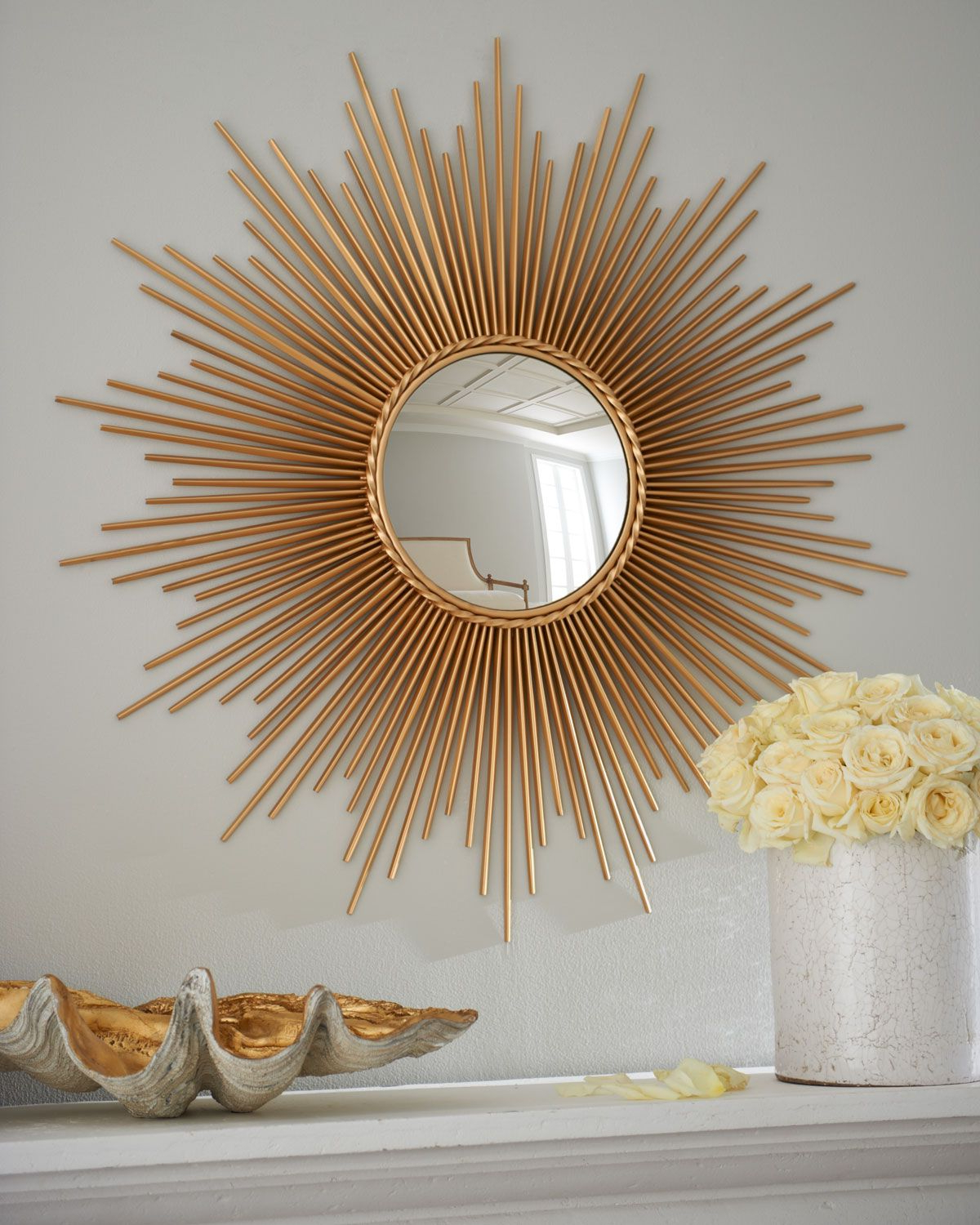 Sun Ray Wall Mirrors Inside Trendy Thin Sunray Mirror In 2019 (Gallery 1 of 20)