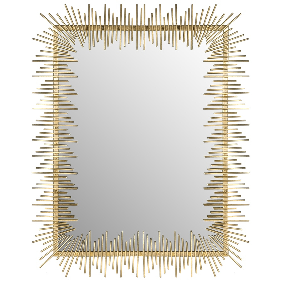 Sun Ray Wall Mirrors Pertaining To Best And Newest Safavieh Sunray 35 In L X 27 In W Antique Gold Polished Wall (View 18 of 20)