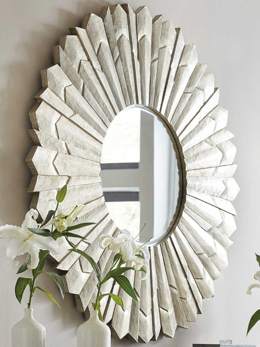Sun Ray Wall Mirrors Regarding Most Popular Hooker Furniture Sunray German Silver Foil Wall Mirror (View 5 of 20)