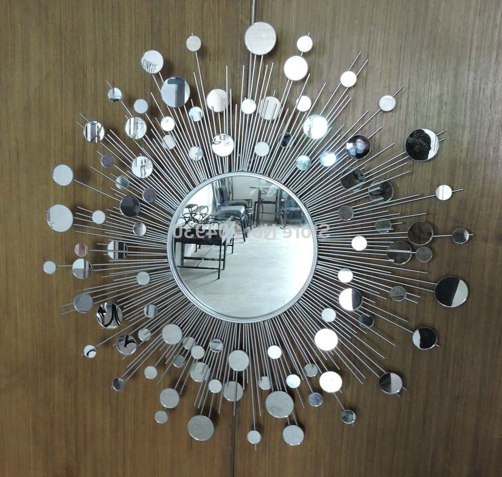Sun Wall Mirrors In Most Up To Date Sun Mirror Wall Decor Silver : Ideas Sun Mirror Wall Decor (View 17 of 20)
