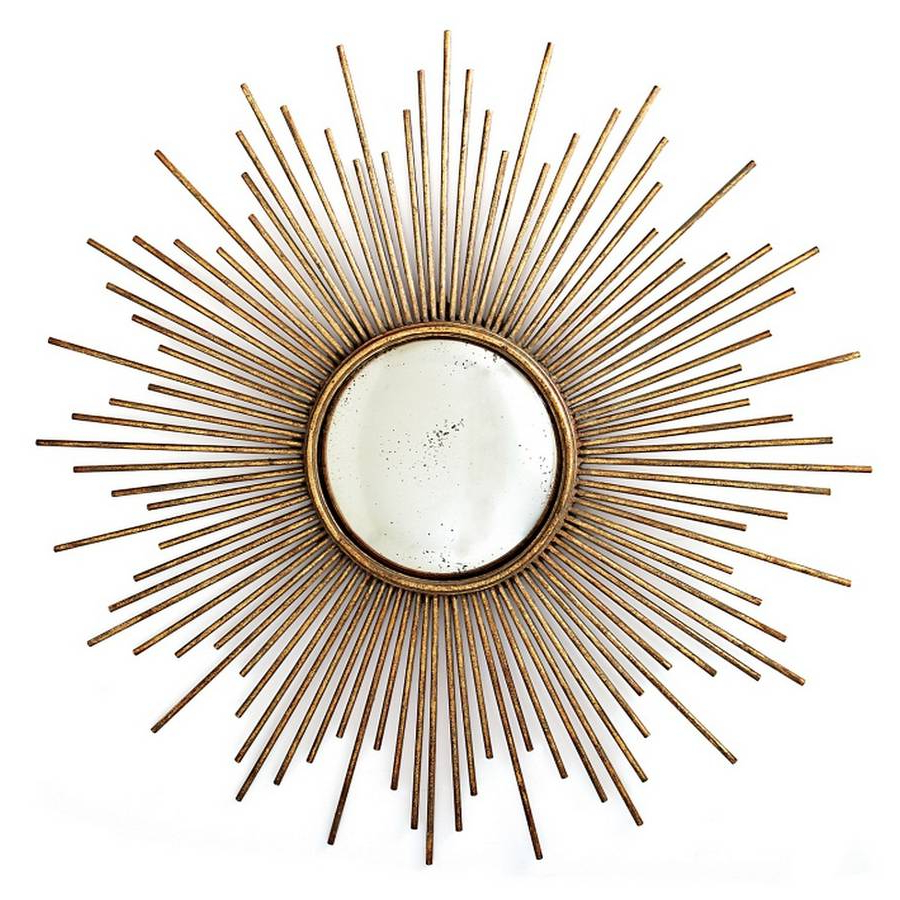 Sunburst Gold Mirror Starburst Small Sun Wall Decoration In Most Up To Date Sun Wall Mirrors (View 13 of 20)