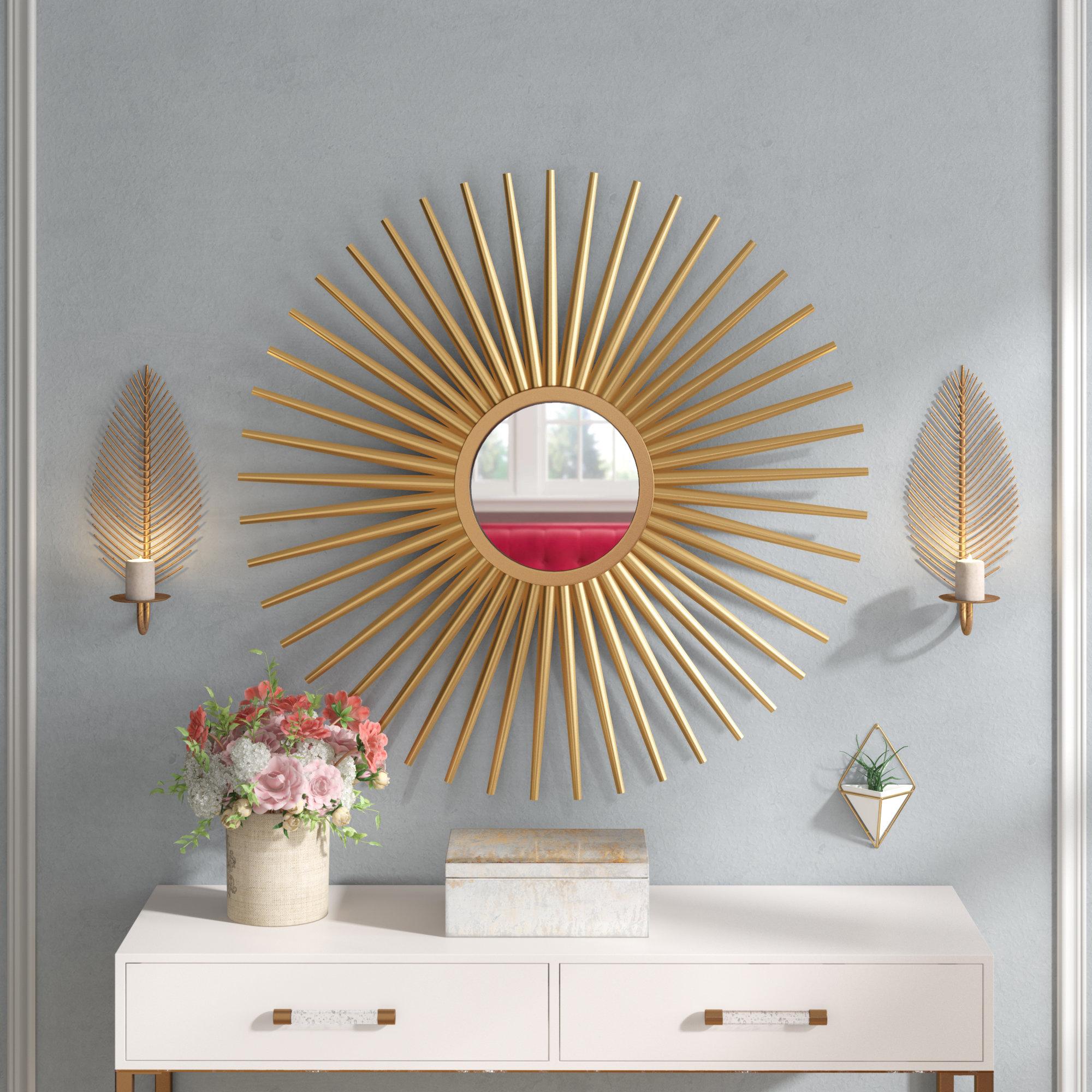 Sunburst Wall Mirrors In Well Liked Sunburst Wall Mirror (Gallery 2 of 20)