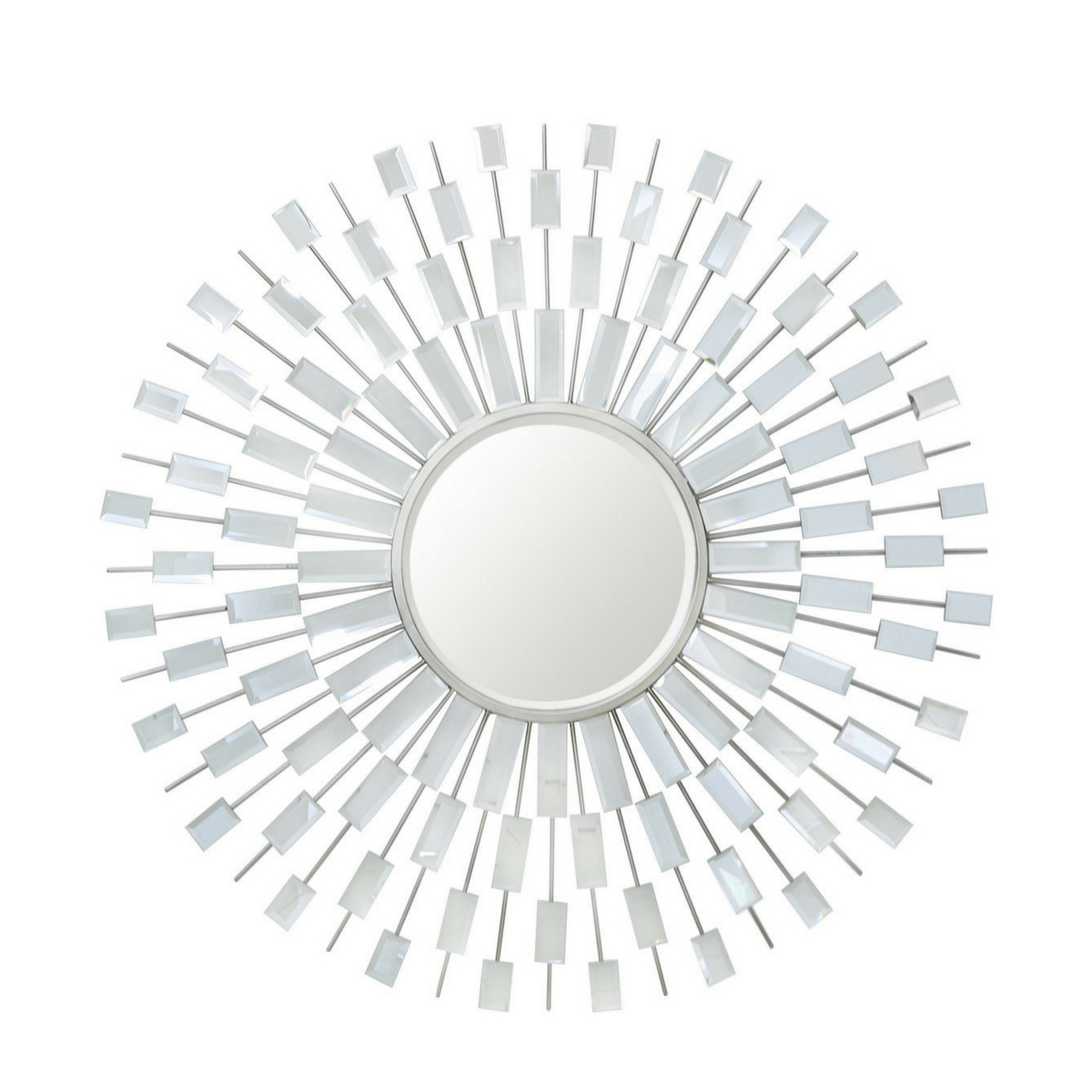Sunburst Wall Mirrors Inside Most Current Sunburst Silver Wall Mirror (View 16 of 20)