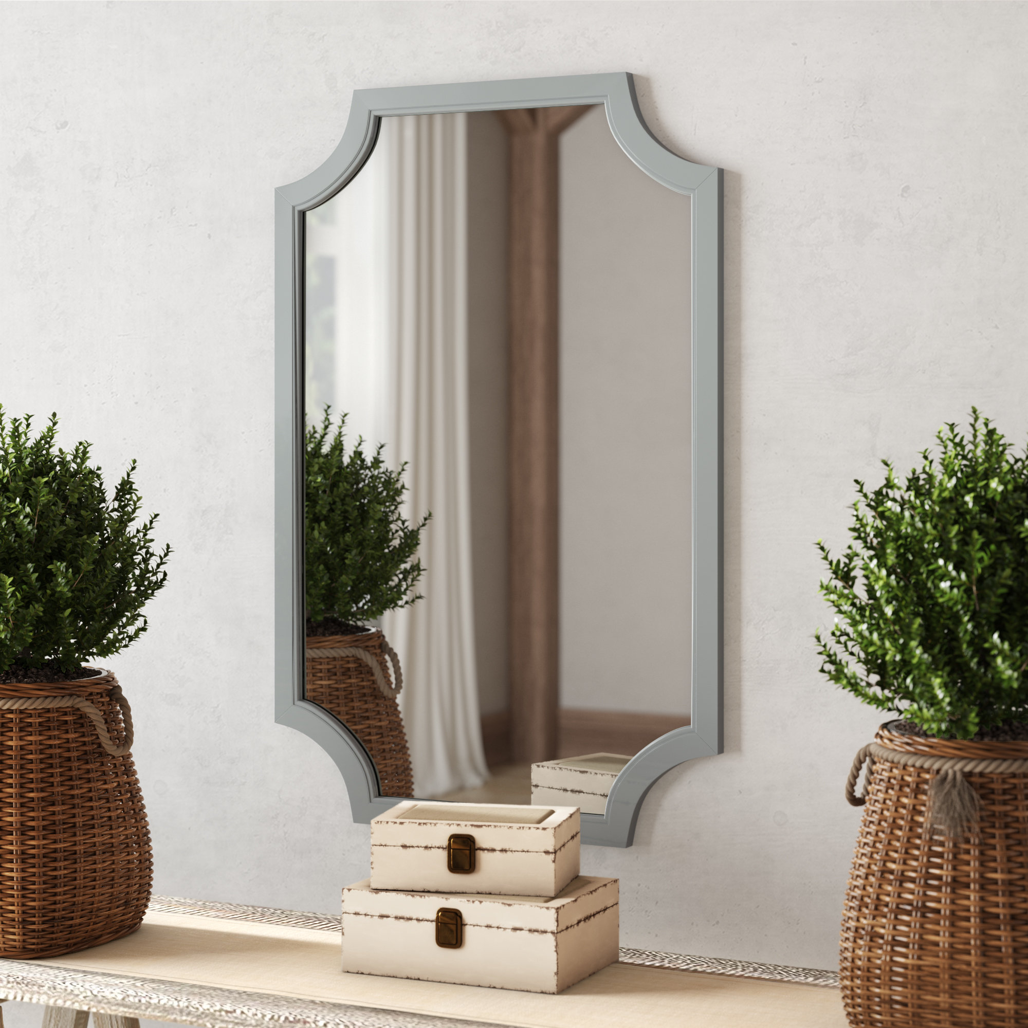 Surbit Wood Framed Accent Mirror Intended For Most Current Bristol Accent Mirrors (View 20 of 20)