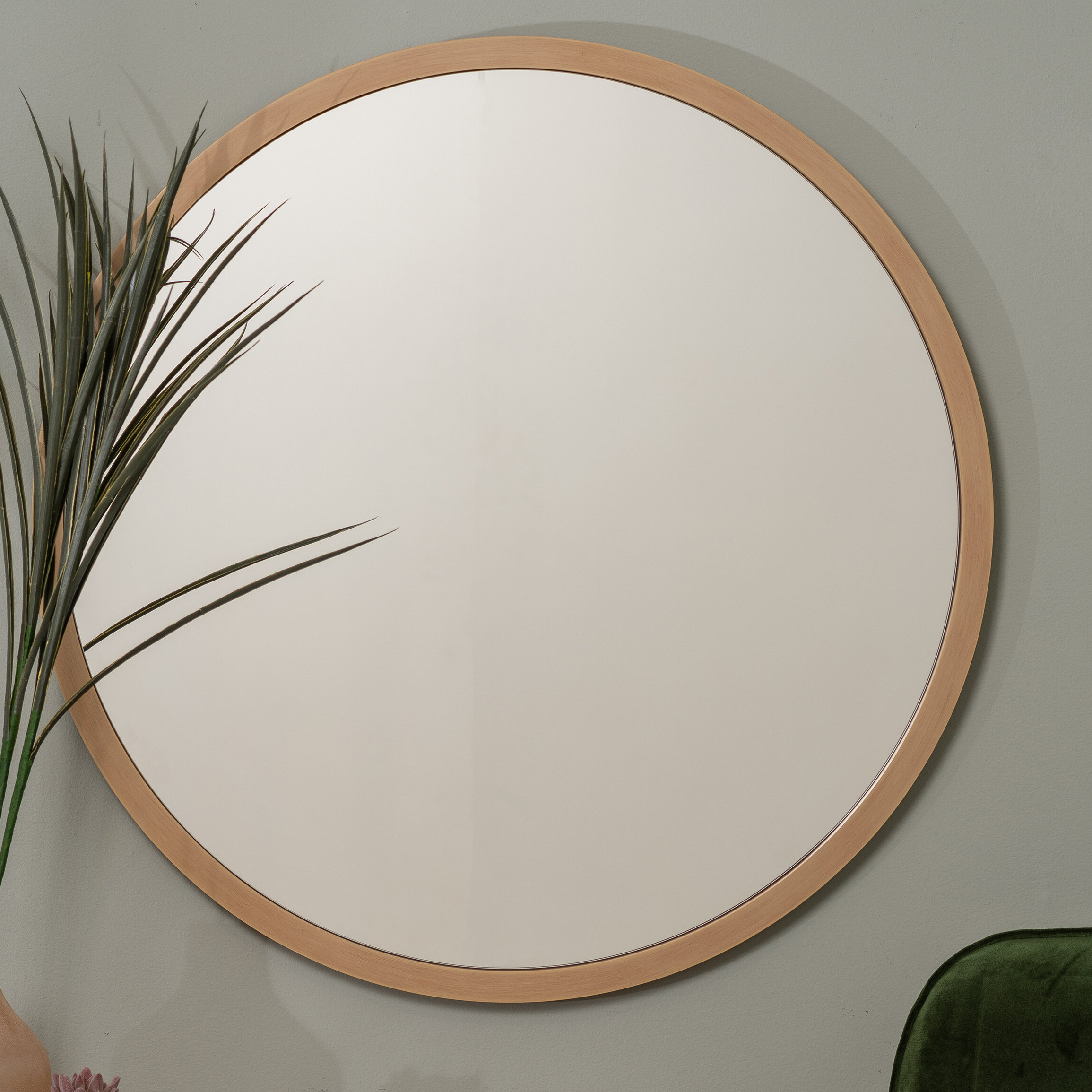Swagger Accent Wall Mirrors Regarding Trendy Swansea Scandinavian Round Wall Mirror (View 17 of 20)