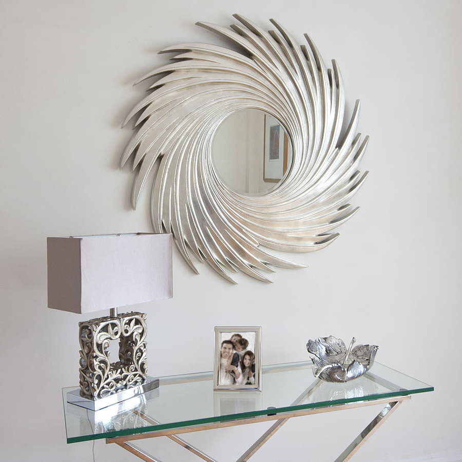 Swirl Wall Mirrors For Newest Mirrors Amusing Home Decorating Wall Mirror Design Ideas Crafts Diy (Gallery 18 of 20)