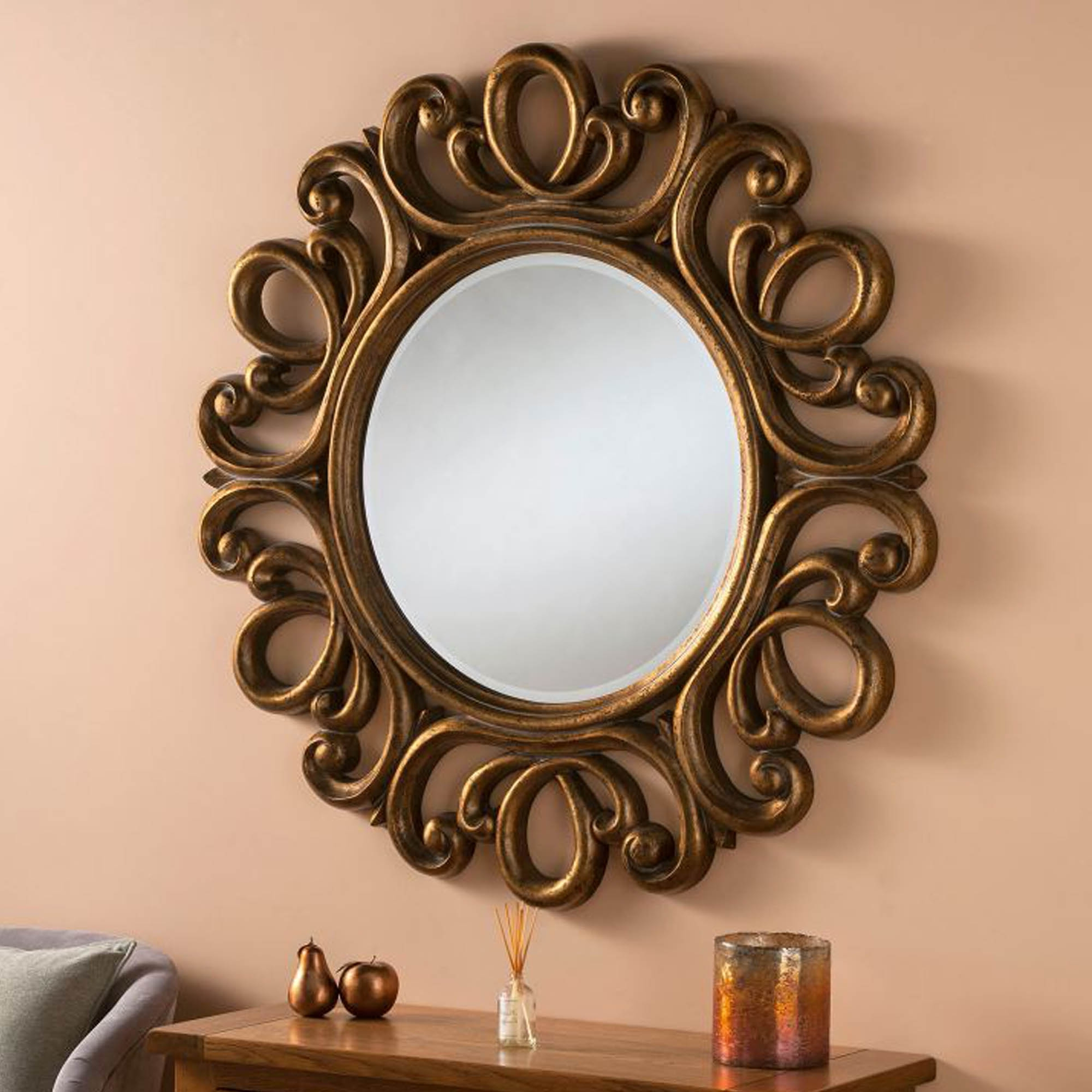 Swirl Wall Mirrors In Popular Antique Gold Swirl Ornate Wall Mirror (Gallery 15 of 20)