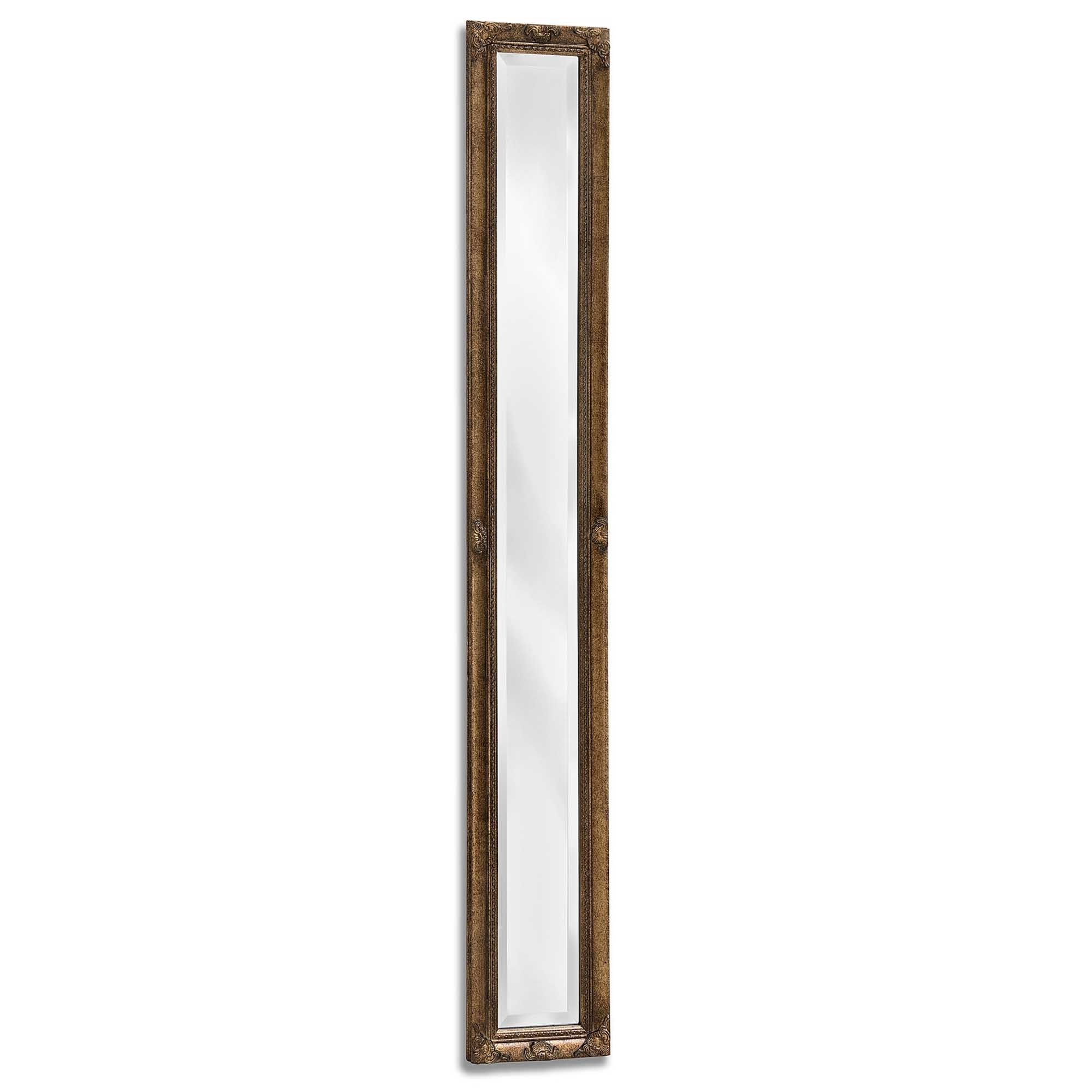 Tall Narrow Wall Mirrors Throughout Recent Antique French Style Gold Narrow Wall Mirror (View 16 of 20)