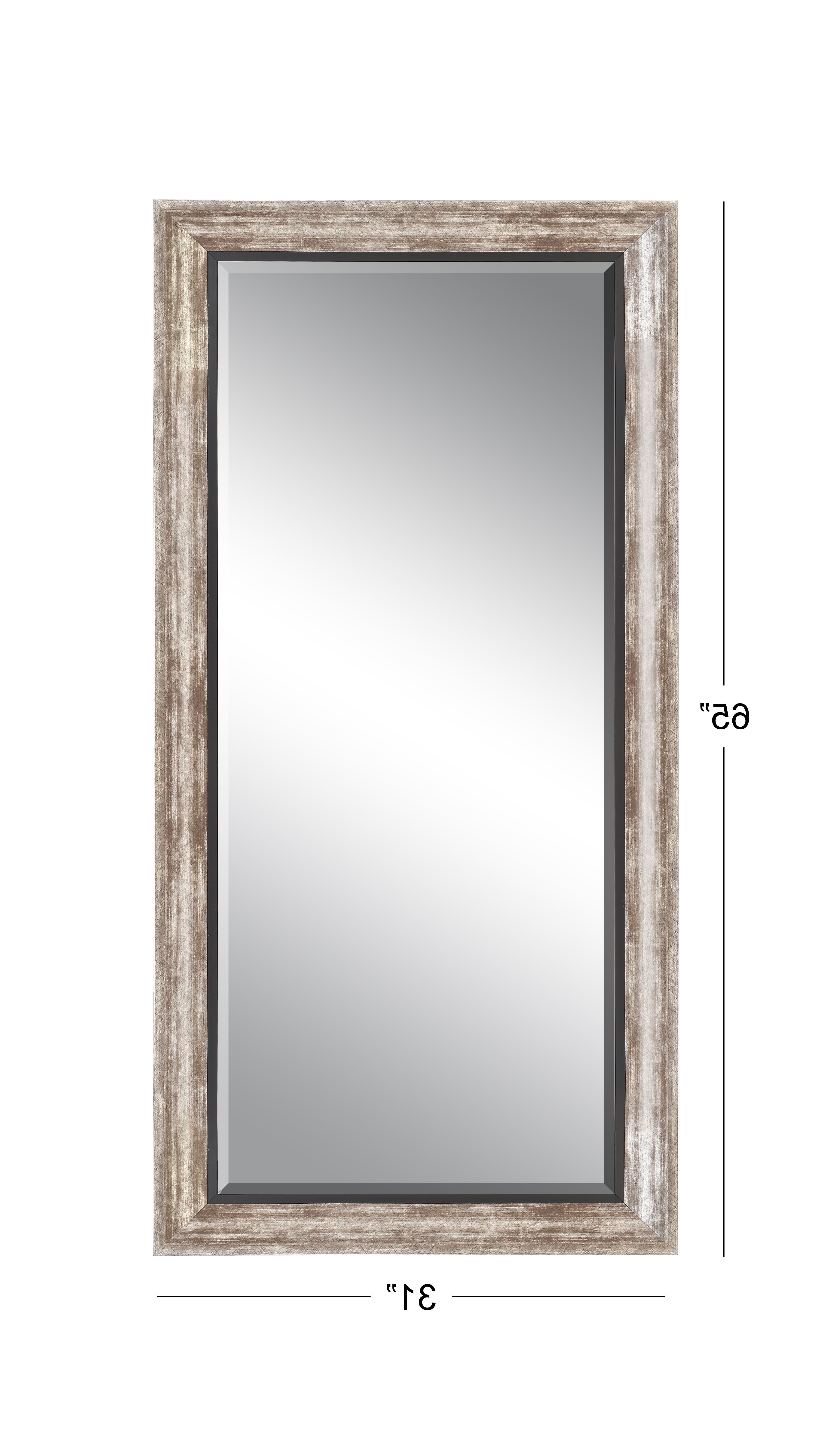 Tall Wall Mirrors For Most Recently Released Decmode 65 X 31 Inch Rustic Foam Rectangular Framed Wall Mirror, Bronze (View 11 of 20)