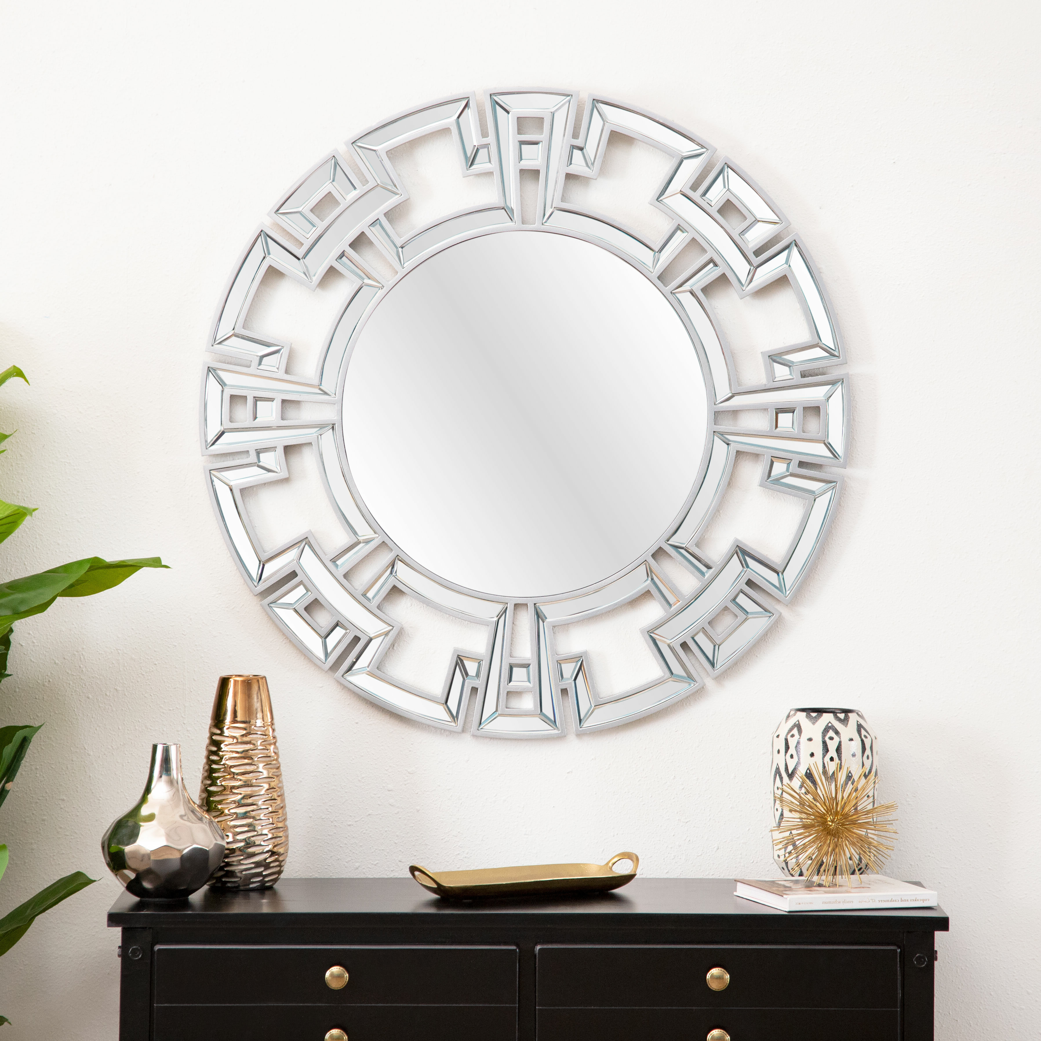 Featured Photo of Tata Openwork Round Wall Mirrors