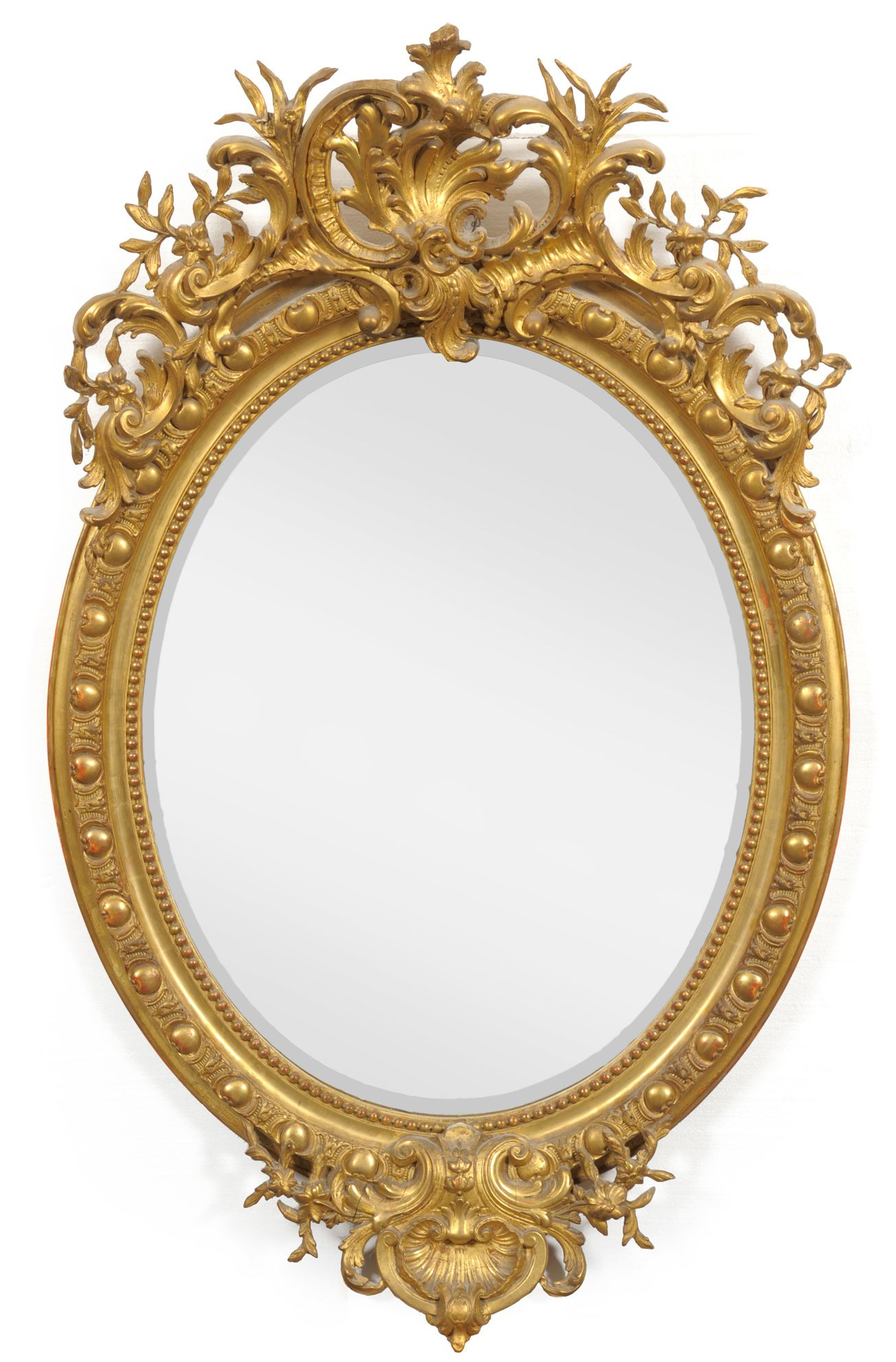 Tennants Auctioneers: An Early Victorian Gilt And Gesso Oval Wall Inside Current Antique Oval Wall Mirrors (Gallery 3 of 20)