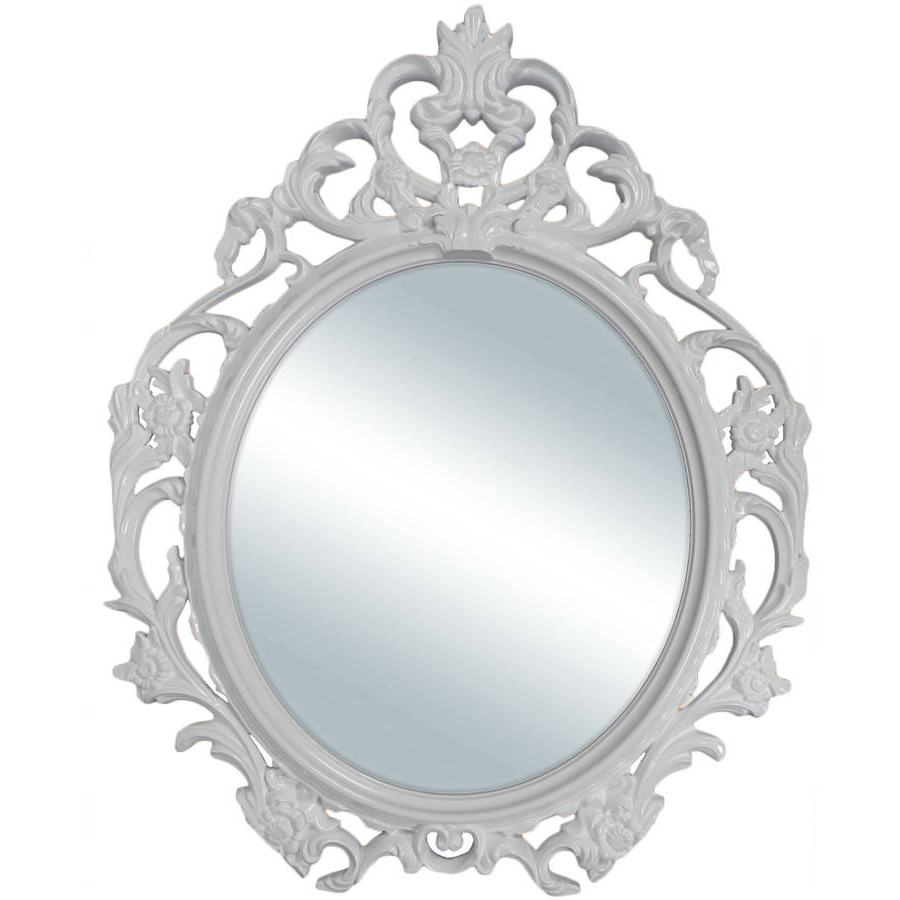 The Decorative Wall Mirror And Great Old Style For Classic Home Inside Most Current Small White Wall Mirrors (View 18 of 20)