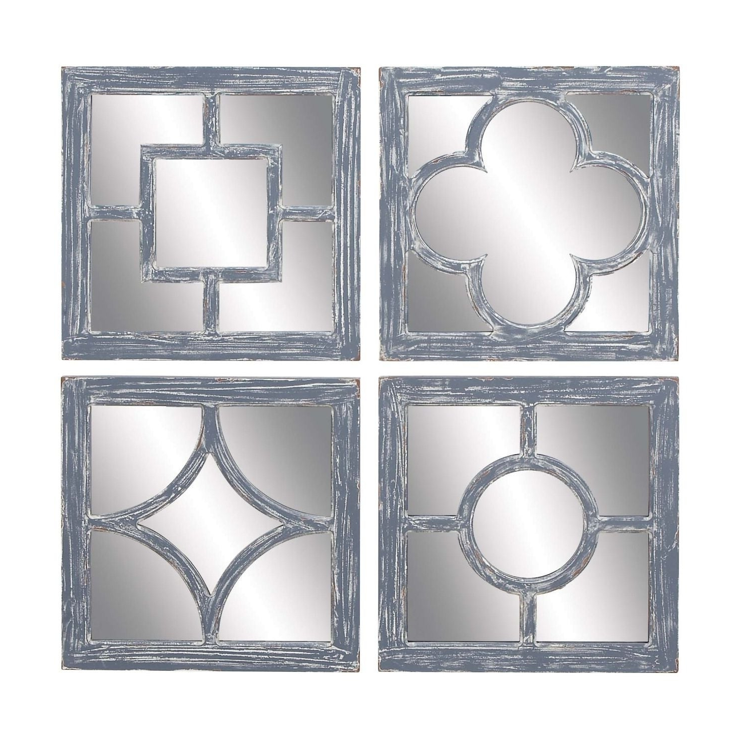 The Gray Barn Coconut Grove Decorative Wall Mirrors (set Of 4) – Grey For Widely Used Decorative Cheap Wall Mirrors (View 15 of 20)
