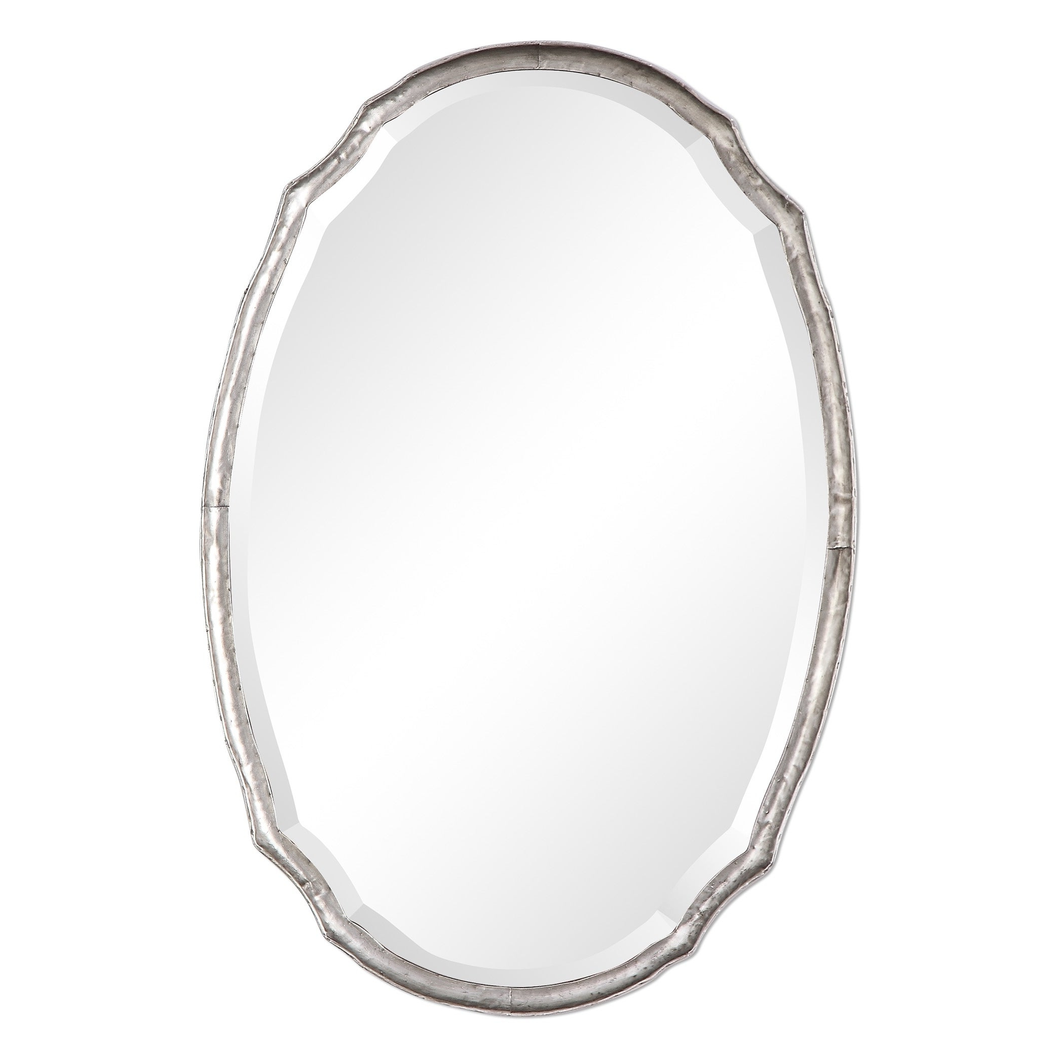 The Gray Barn Wilset Hammered Silver Oval Wall Mirror Pertaining To Well Known Oval Wall Mirrors (View 17 of 20)