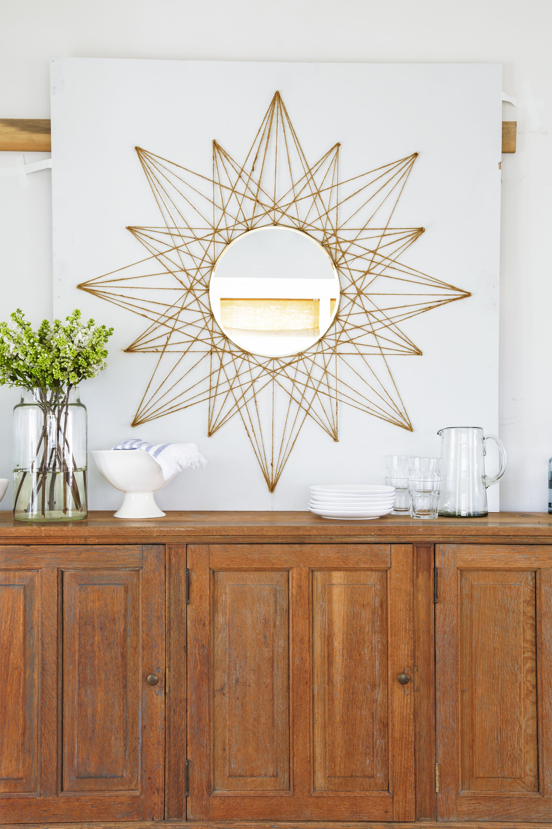 This Simple Mirror Diy Will Upgrade Any Boring Wall In Your In Widely Used Star Wall Mirrors (View 14 of 20)