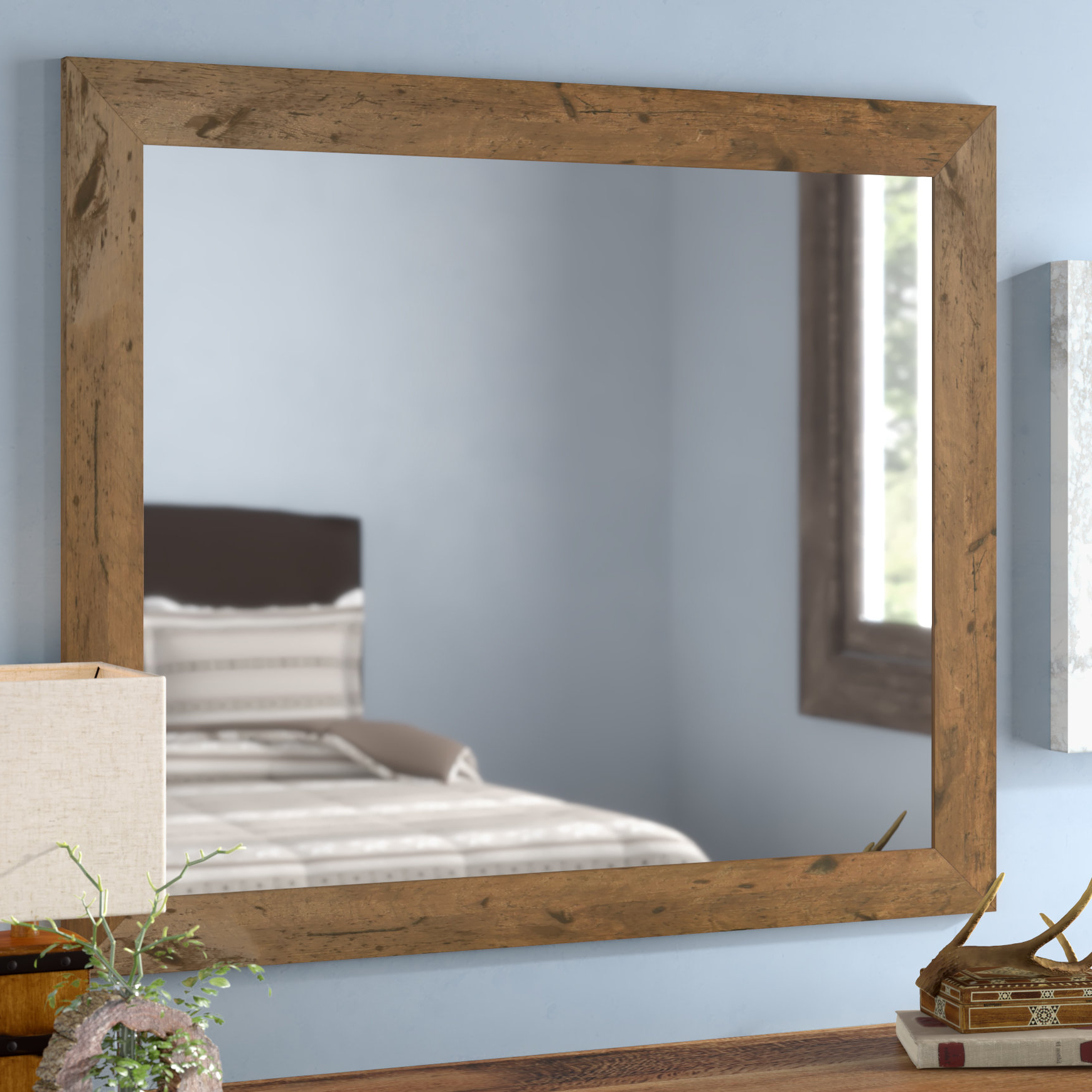 Tifton Traditional Beveled Accent Mirrors For Newest Loon Peak Keown Rustic Lighted Wall Mirror (View 20 of 20)