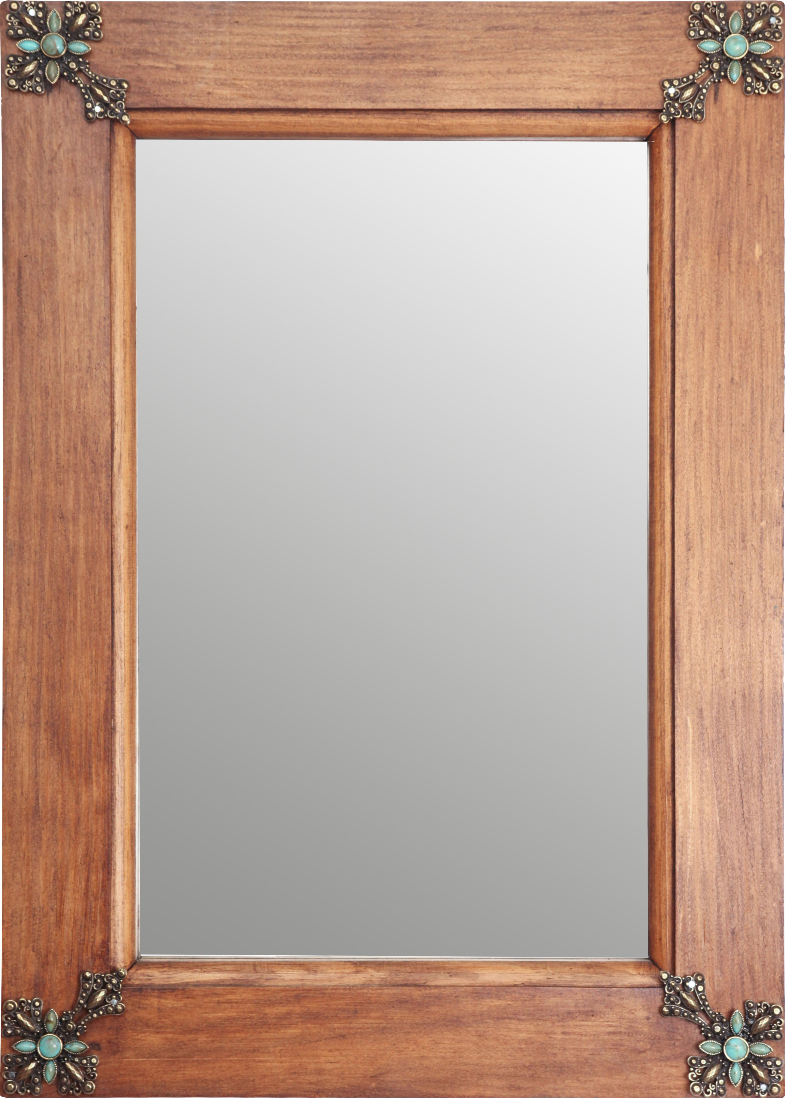 Tifton Traditional Beveled Accent Mirrors In Most Popular My Amigos Imports Concho Cross Rustic Accent Mirror (View 14 of 20)
