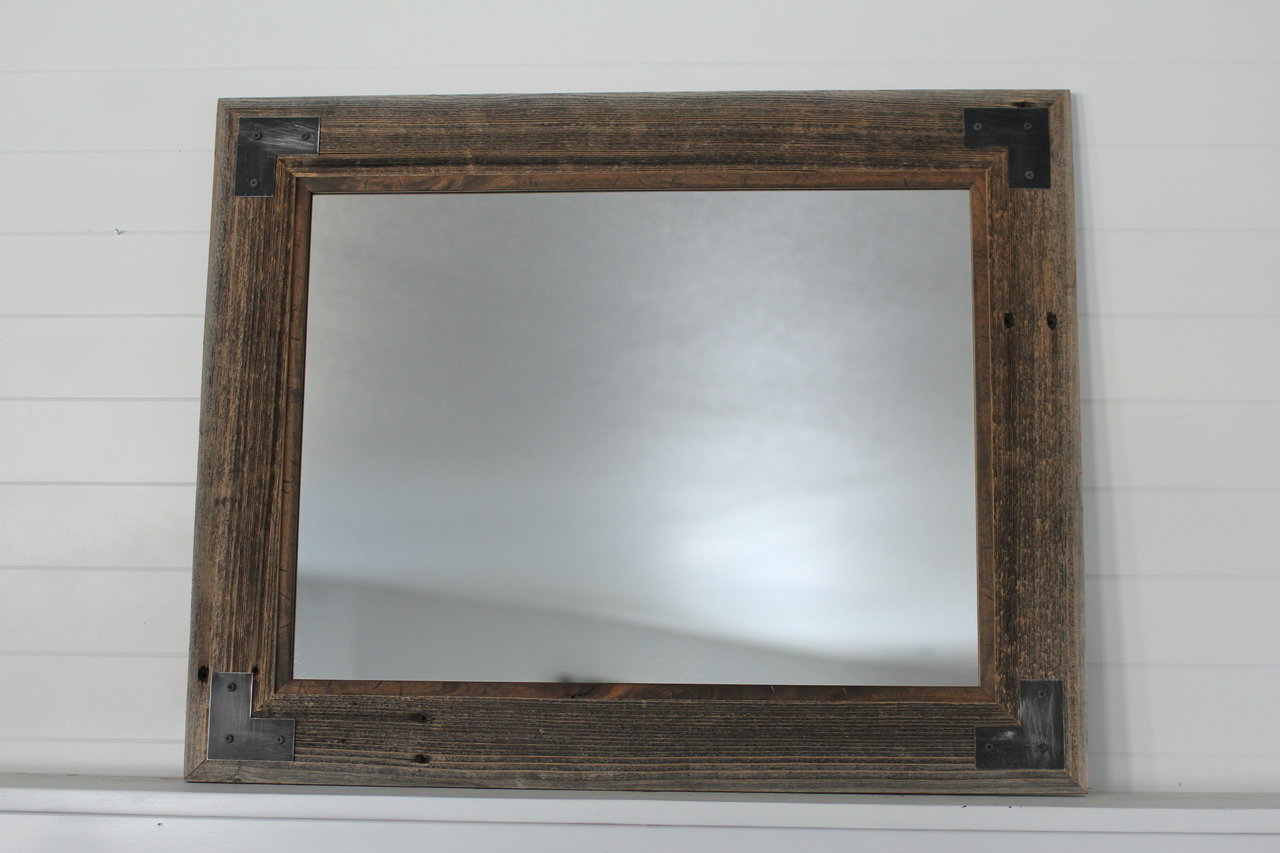 Tifton Traditional Beveled Accent Mirrors Intended For Most Current Follett Modern Farmhouse Accent Mirror (View 13 of 20)