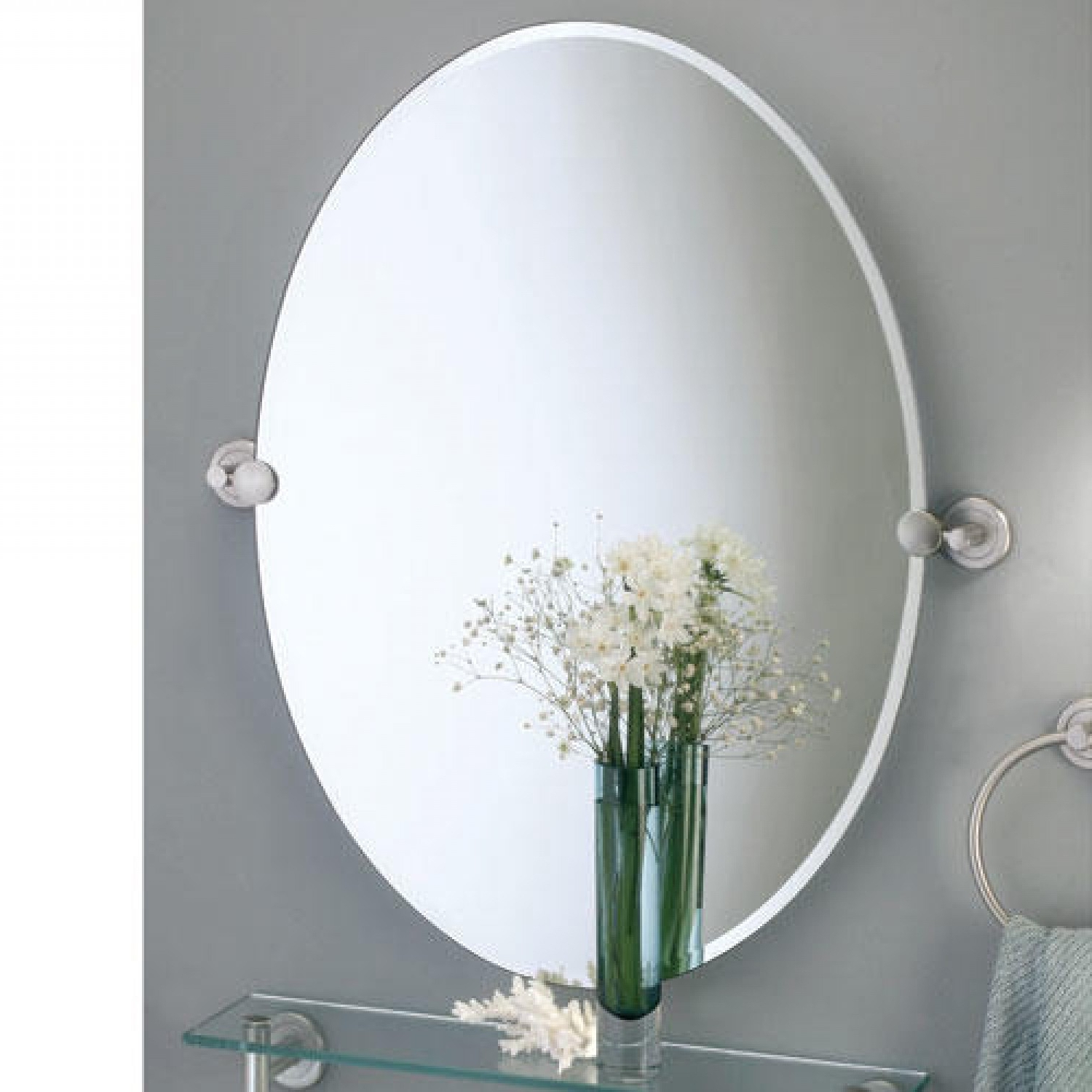Tilt Wall Mirrors In Best And Newest Oval Tilt Mirror Bathroom • Bathroom Mirrors And Wall Mirrors (View 9 of 20)