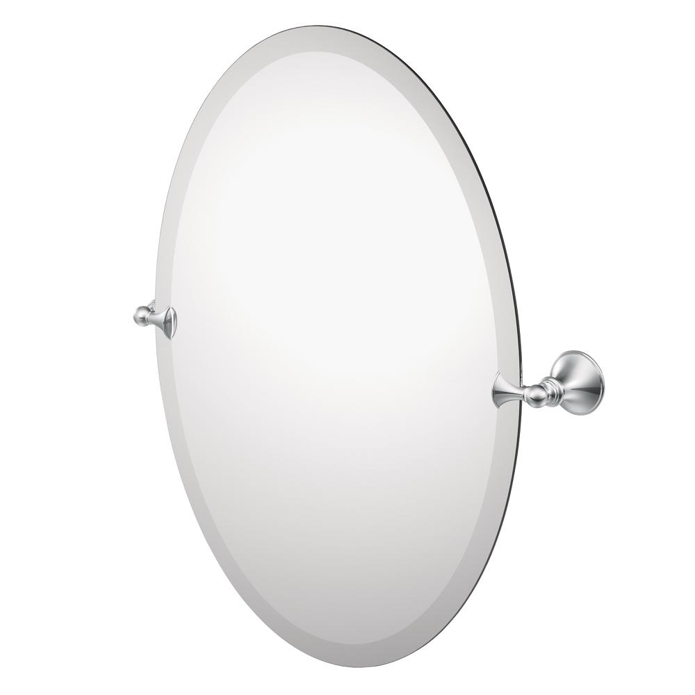 Tilt Wall Mirrors With Regard To Most Recently Released Moen Dn2692Ch Glenshire Oval Tilting Mirror (Chrome) (View 12 of 20)