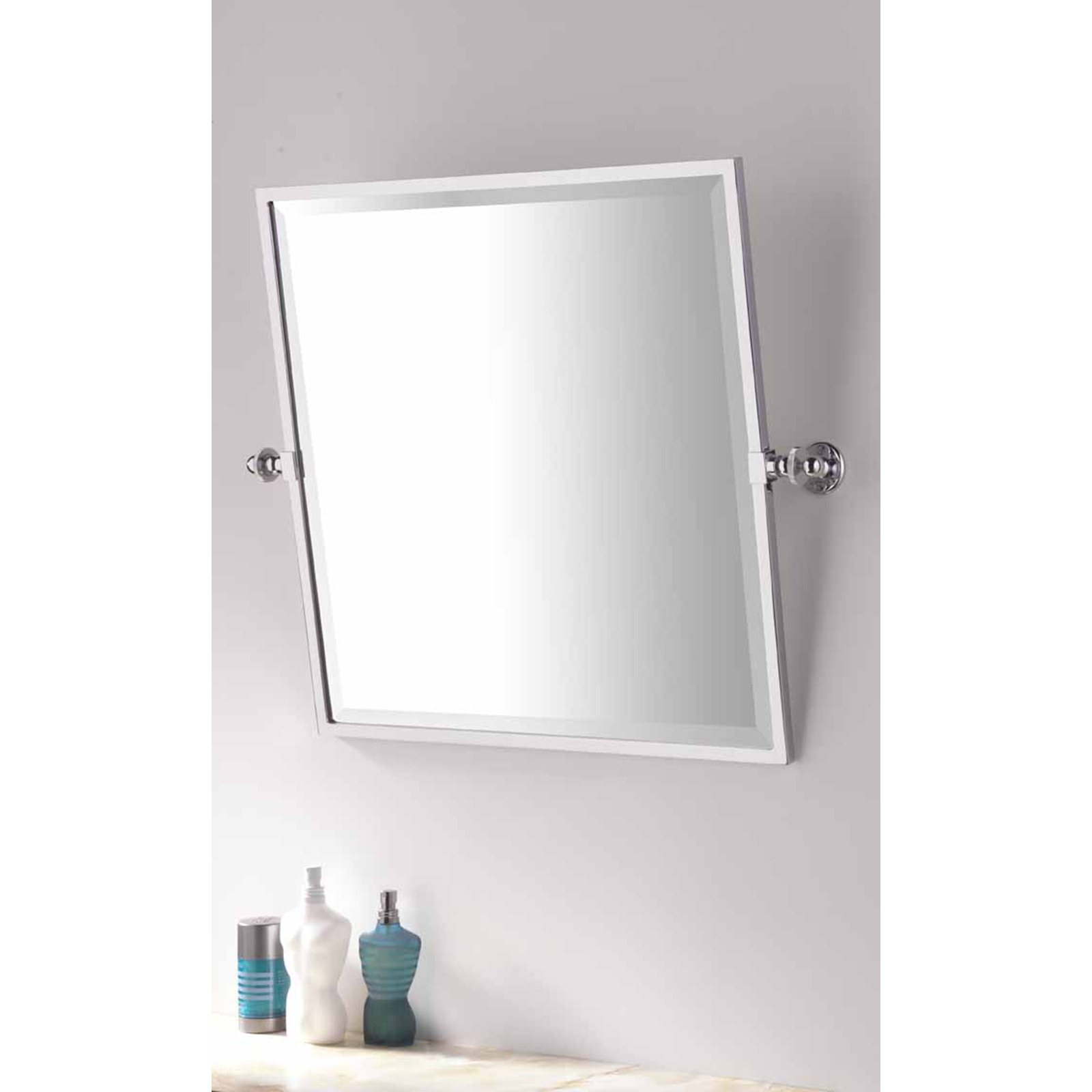 Tilting Wall Mirrors Intended For Popular Bathroom Square Framed Tilting Mirror (View 1 of 20)