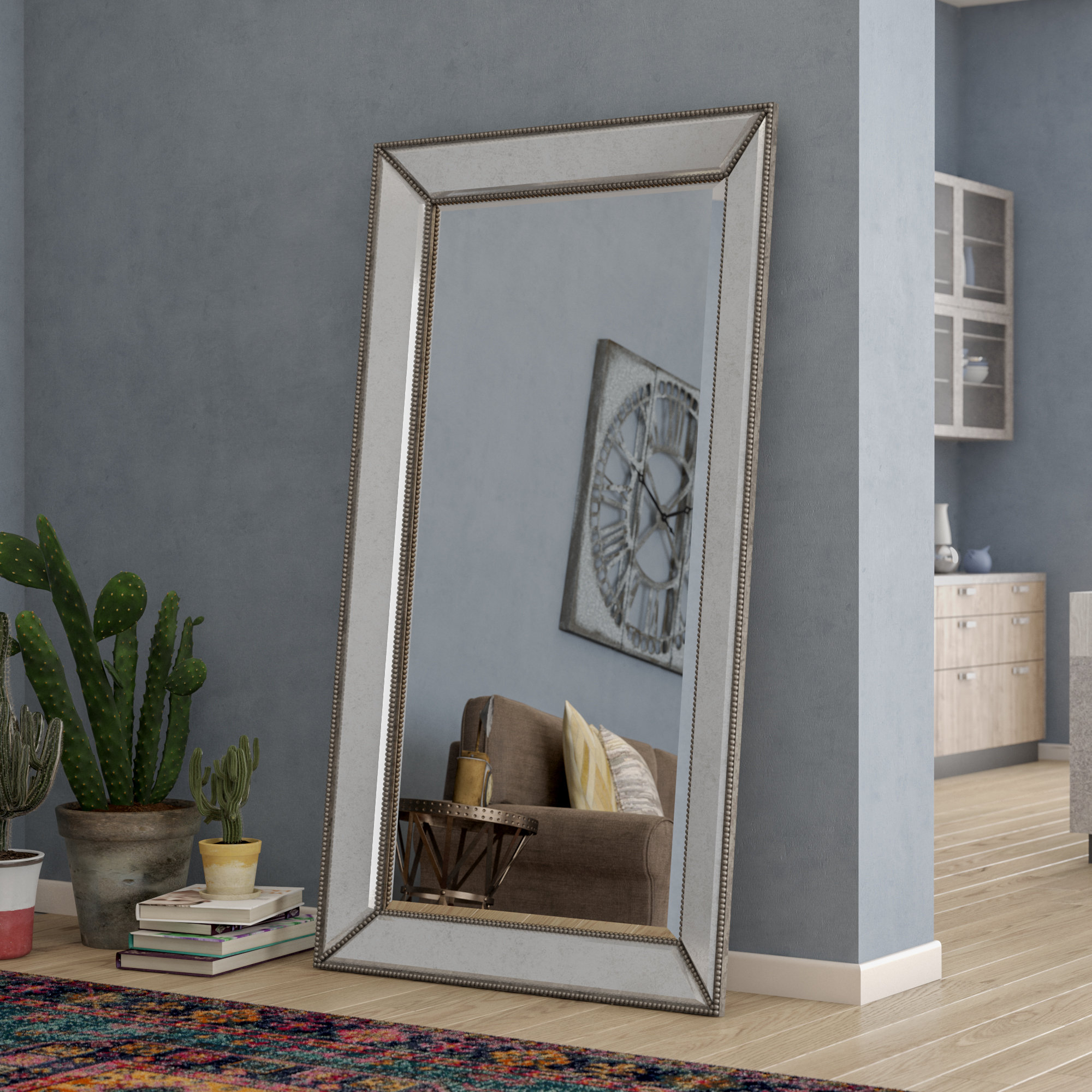 Tips: Leaning Mirror For Home Accessories — Rachelmariedavino For Latest Large Leaning Wall Mirrors (View 16 of 20)