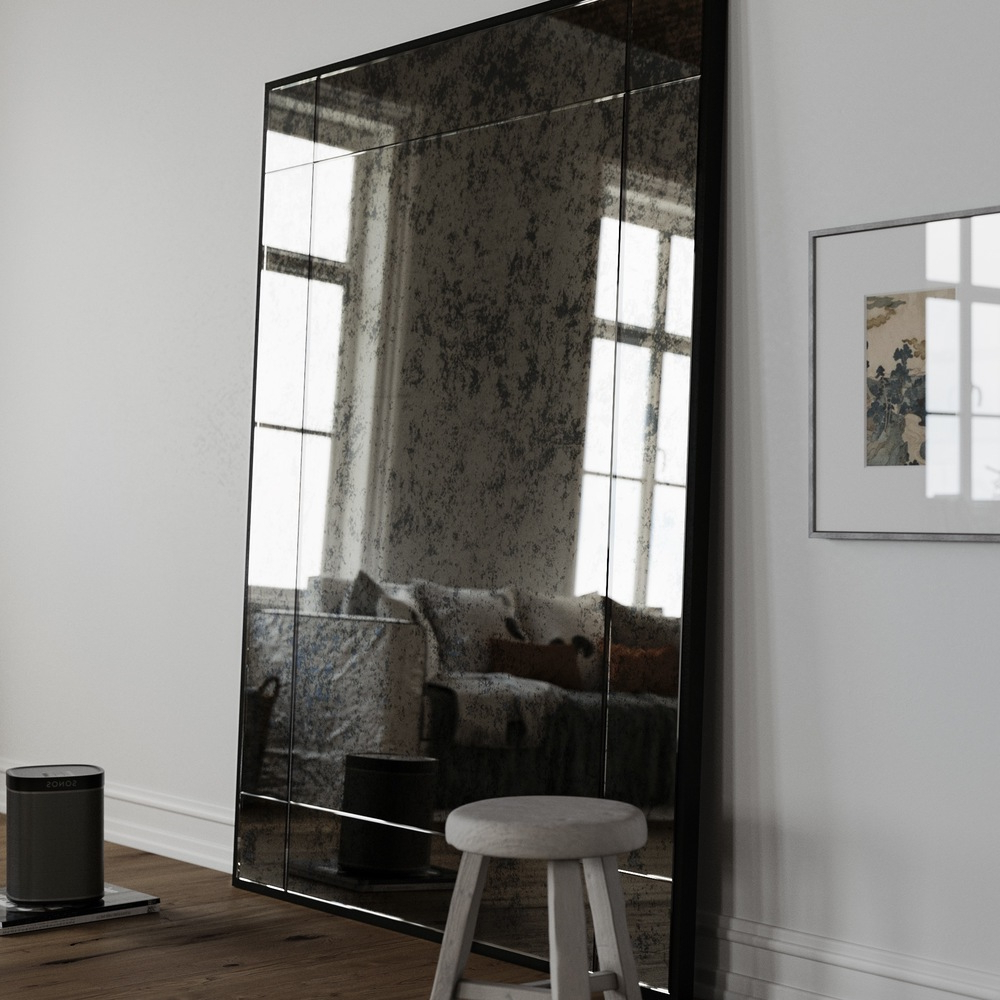 Tips: Leaning Mirror For Home Accessories — Rachelmariedavino With Regard To Most Recently Released Leaning Wall Mirrors (View 11 of 20)