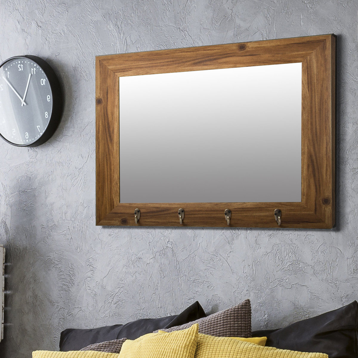 Townson Washed Rustic Accent Mirror With Regard To Best And Newest Longwood Rustic Beveled Accent Mirrors (View 16 of 20)