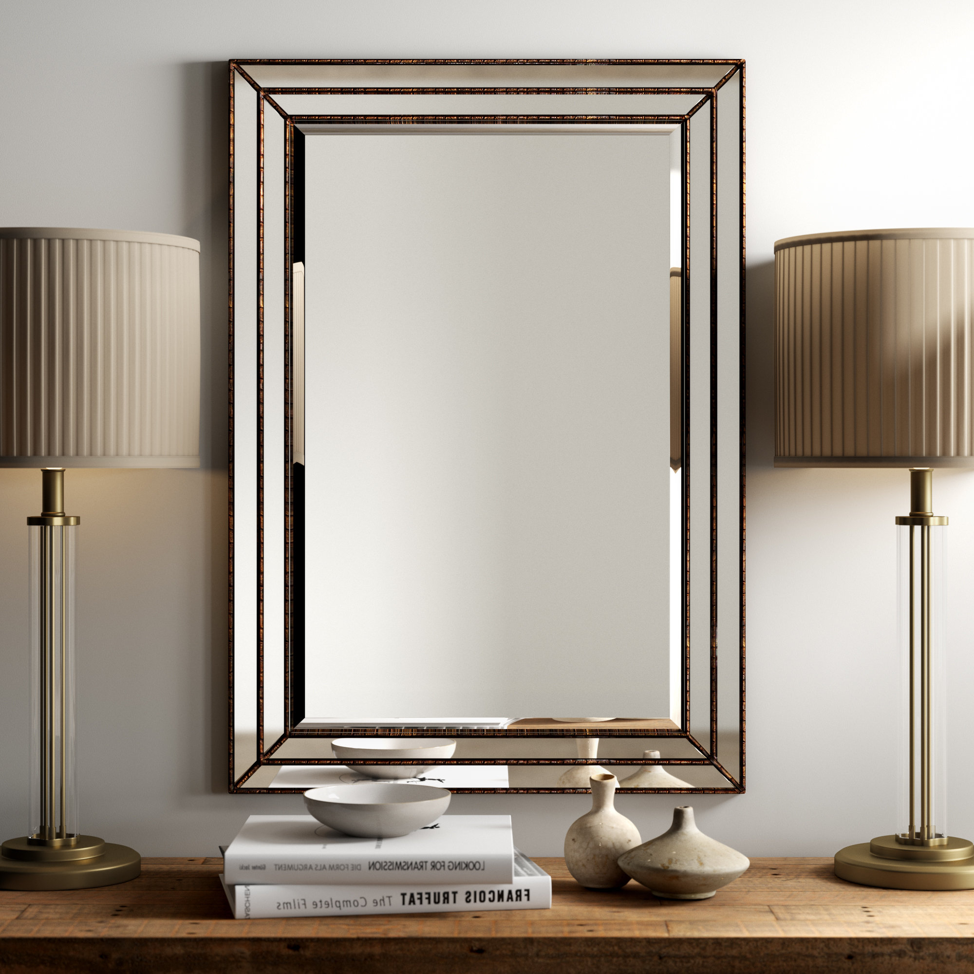 Traditional Beveled Accent Mirrors Intended For Famous Willacoochee Traditional Beveled Accent Mirror (View 2 of 20)