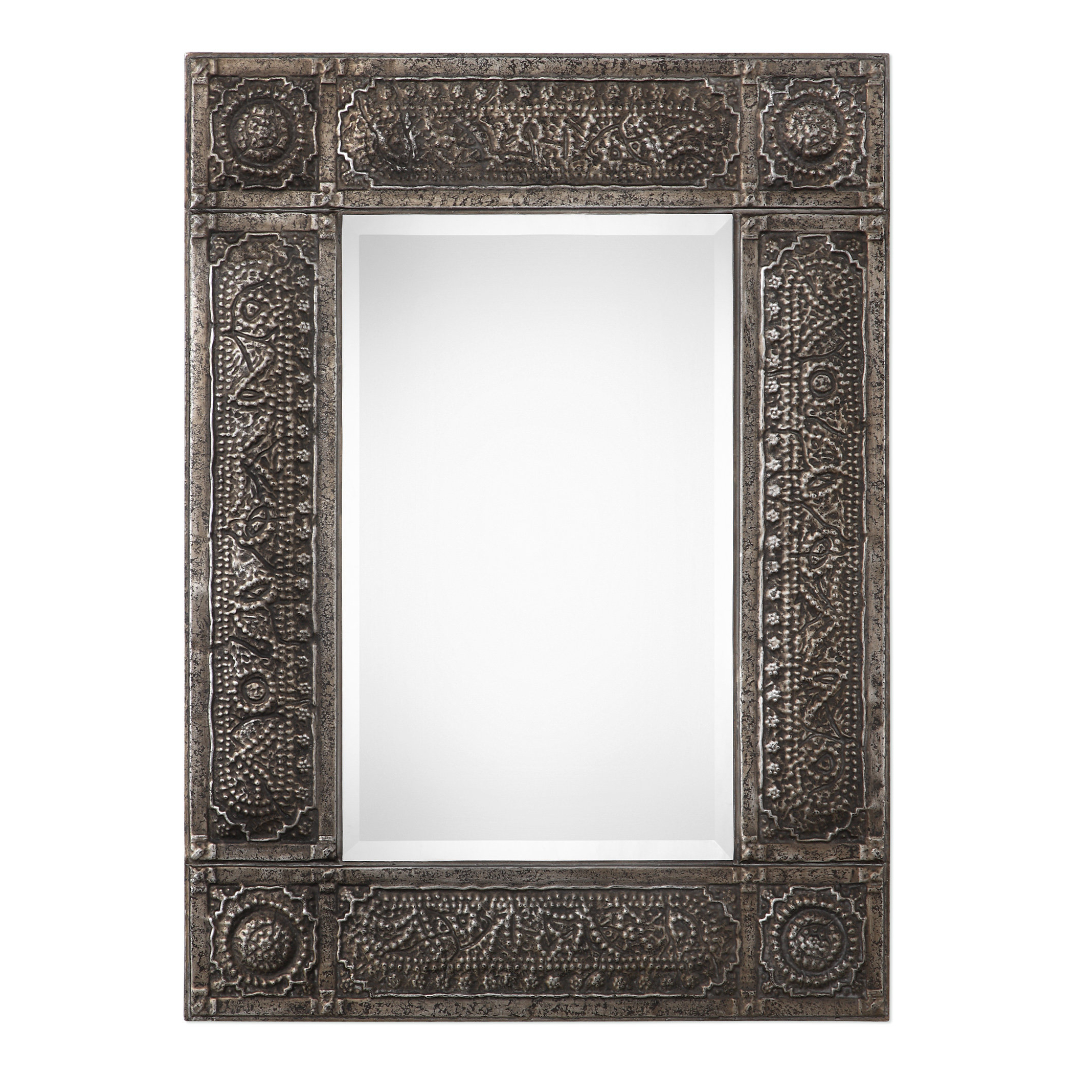 Traditional Beveled Distressed Accent Mirror With Regard To Preferred Rena Accent Mirrors (View 18 of 20)