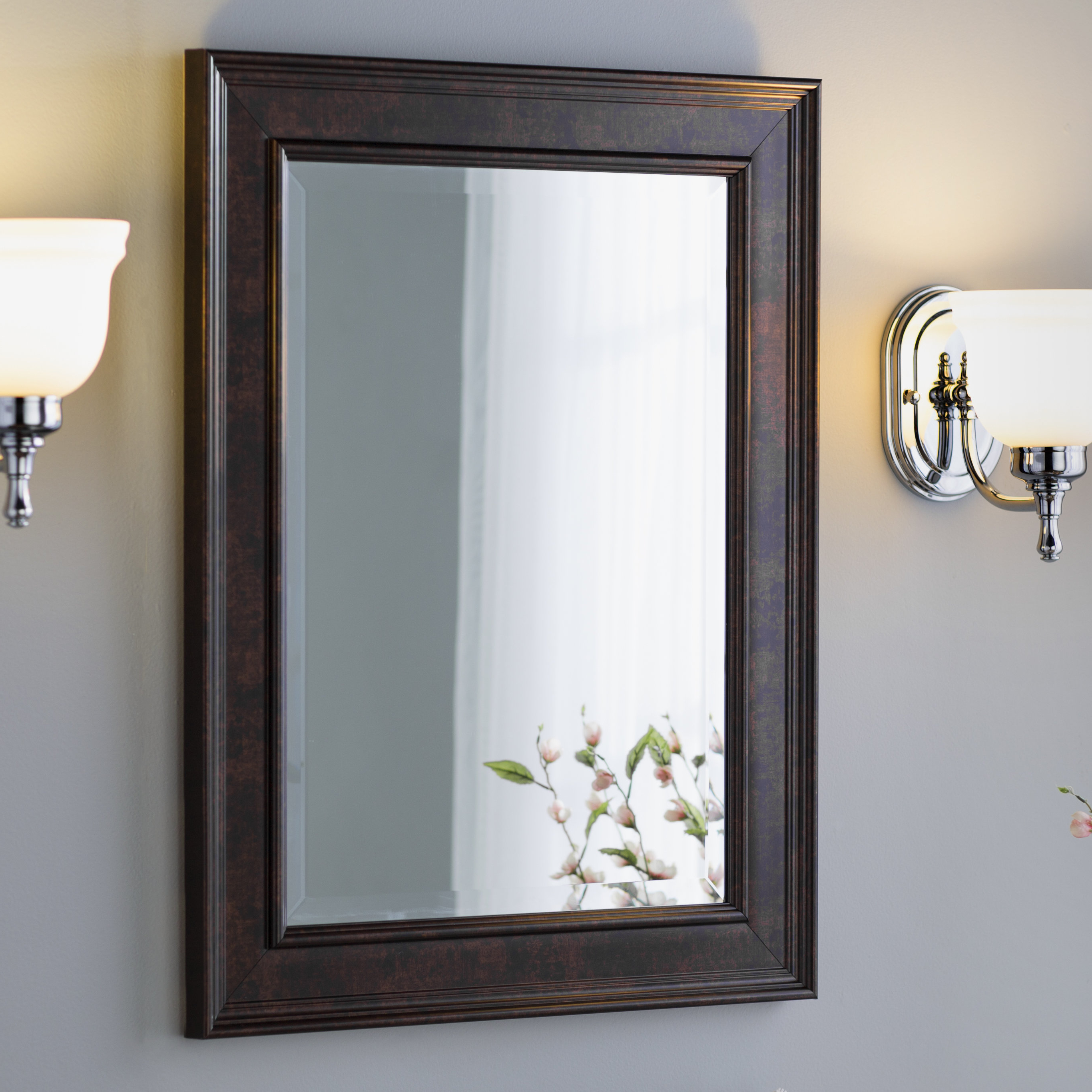 Traditional Beveled Wall Mirror Regarding Latest Vassallo Beaded Bronze Beveled Wall Mirrors (Gallery 4 of 20)