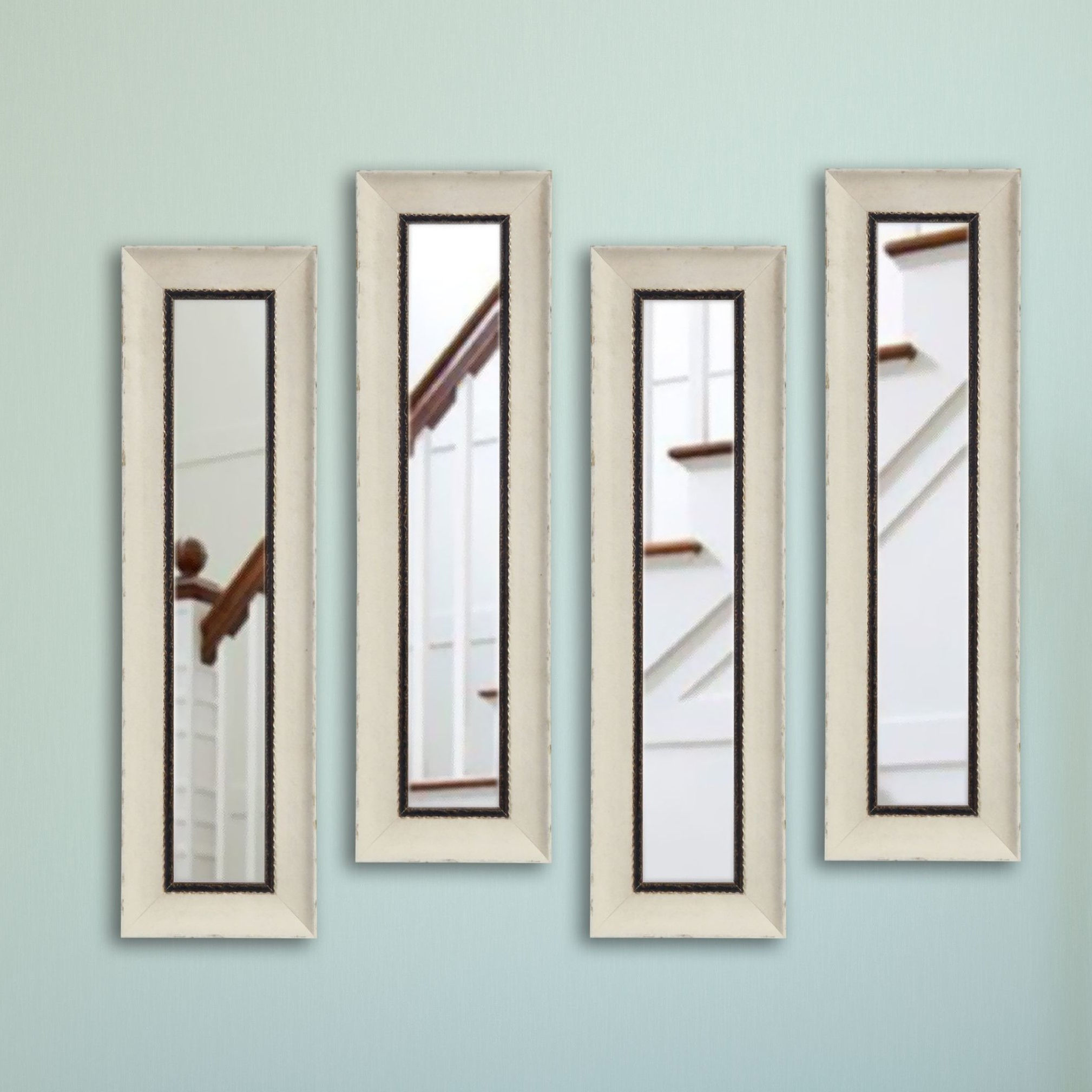 Traditional/coastal Accent Mirrors Within Recent Tonbridge Jaded Panel Traditional/coastal Accent Mirror (View 11 of 20)