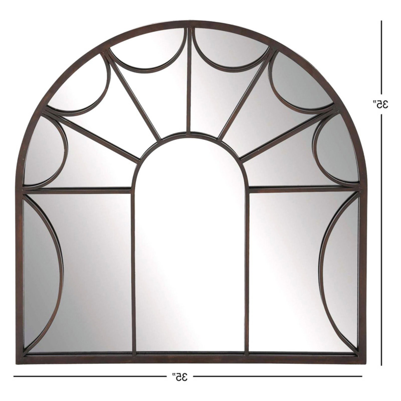 Traditional Metal Wall Mirrors With Regard To Popular Decmode Metal Wall Mirror, Black (View 17 of 20)