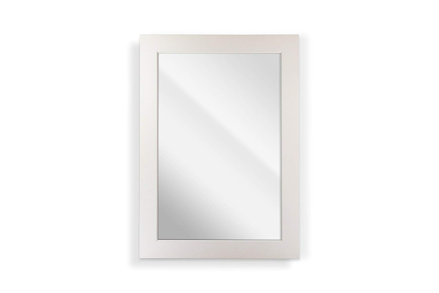 Traditional Square Glass Wall Mirrors For Popular Amazon: Raphael Rozen Matte White Square Panel W (View 12 of 20)
