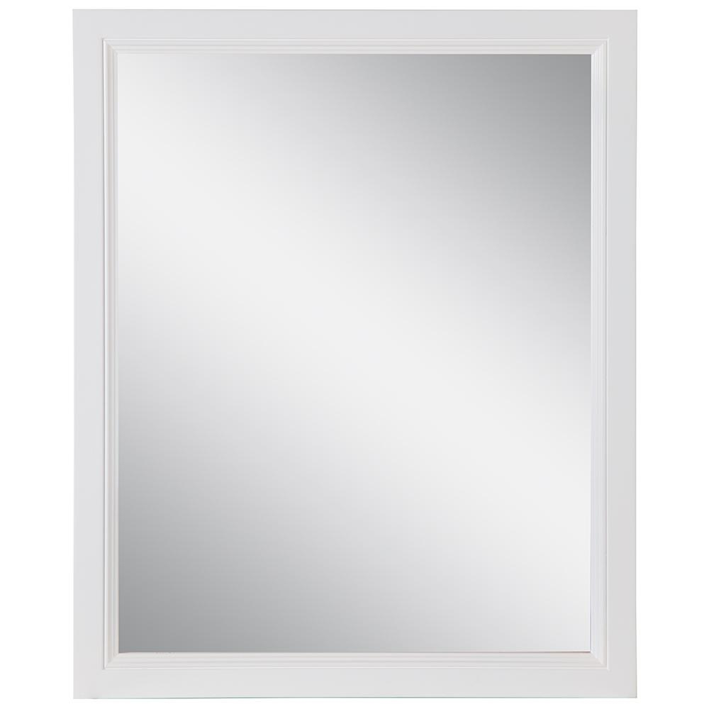Traditional Square Glass Wall Mirrors In Most Popular Home Decorators Collection Teasian 25.67 In. W X 31.38 In. H Framed Wall  Mirror In White (Gallery 19 of 20)